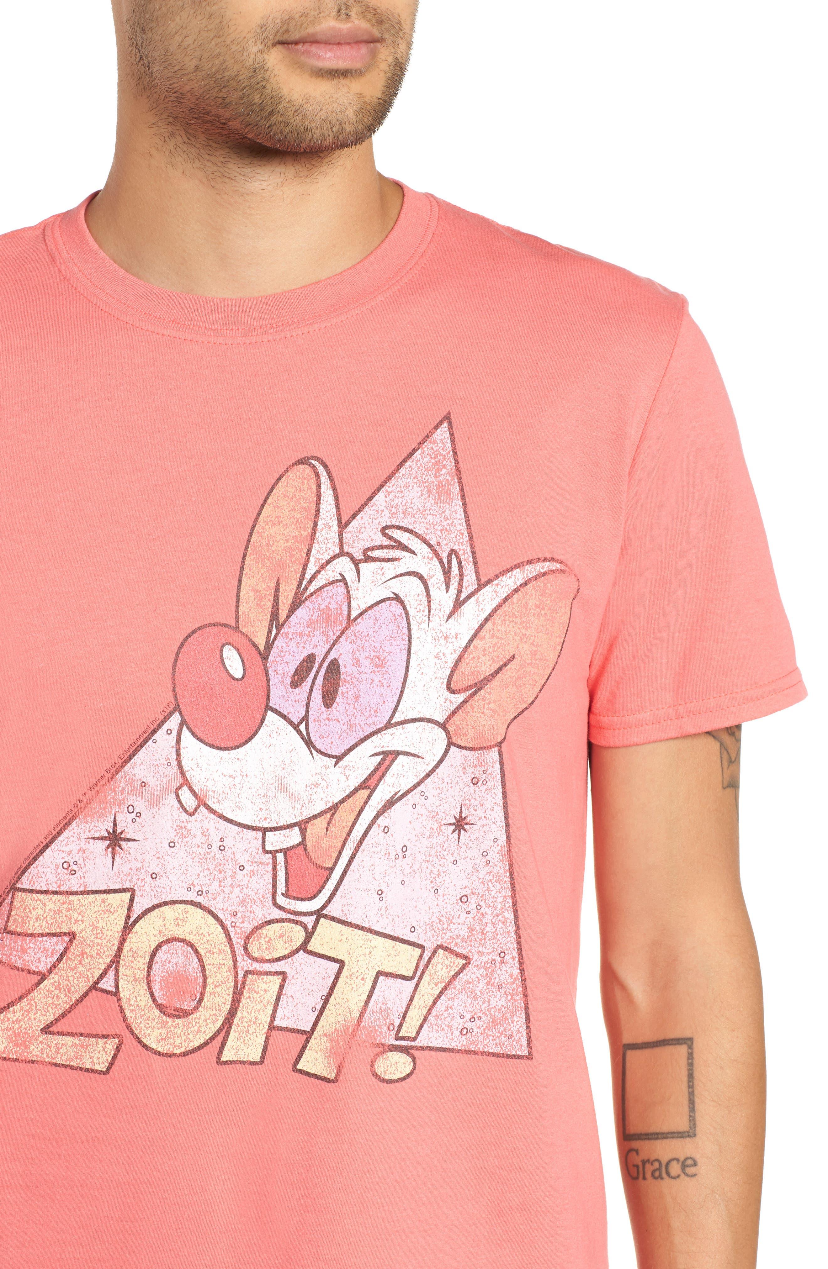 Zoit Graphic T-Shirt,                             Alternate thumbnail 4, color,                             CORAL ZOIT