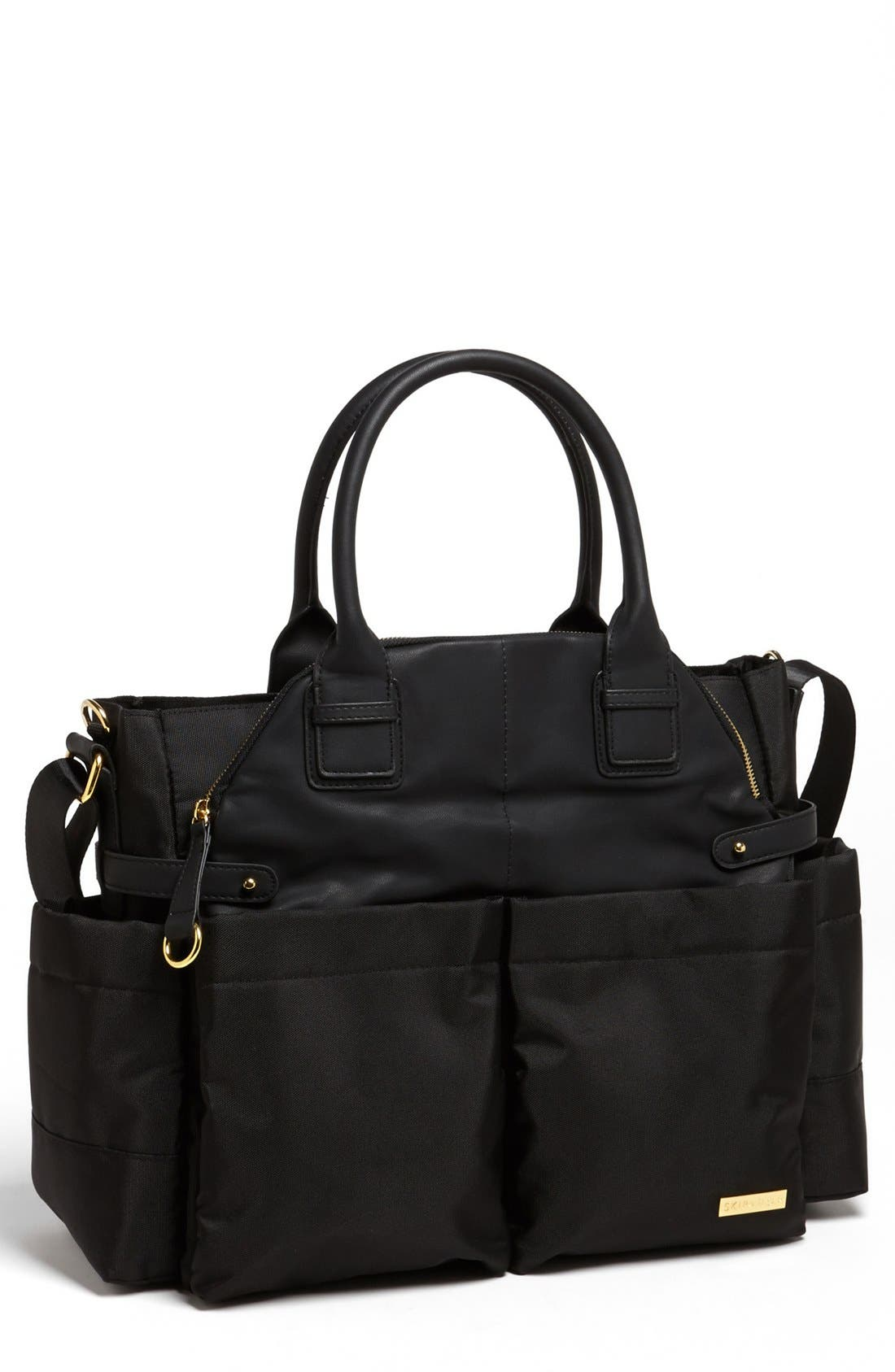 'Chelsea' Diaper Bag,                             Main thumbnail 1, color,                             BLACK