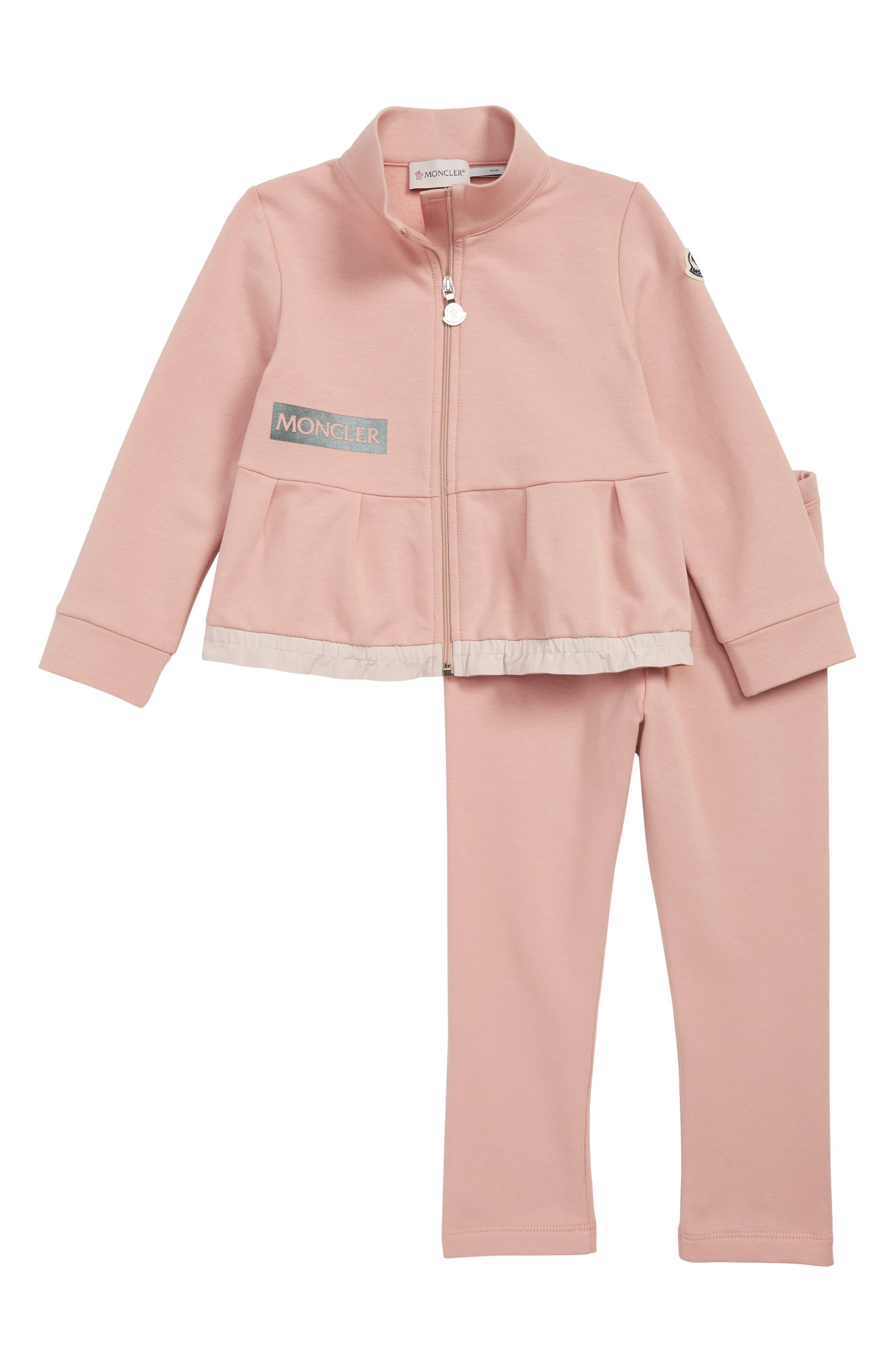 Toddler Girls Moncler Peplum Jacket  Leggings Set