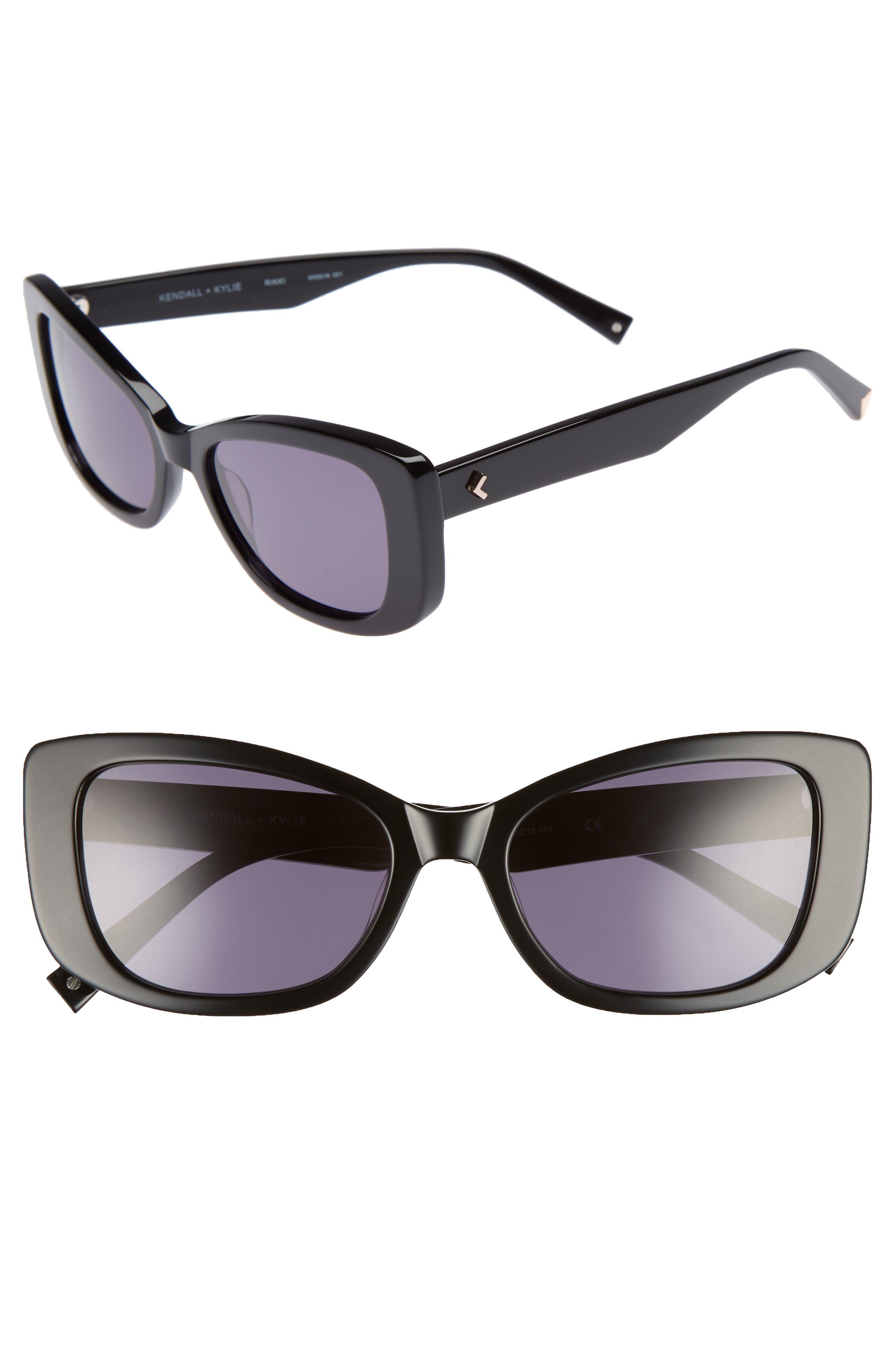 53mm Cat Eye Sunglasses,                             Main thumbnail 1, color,                             001