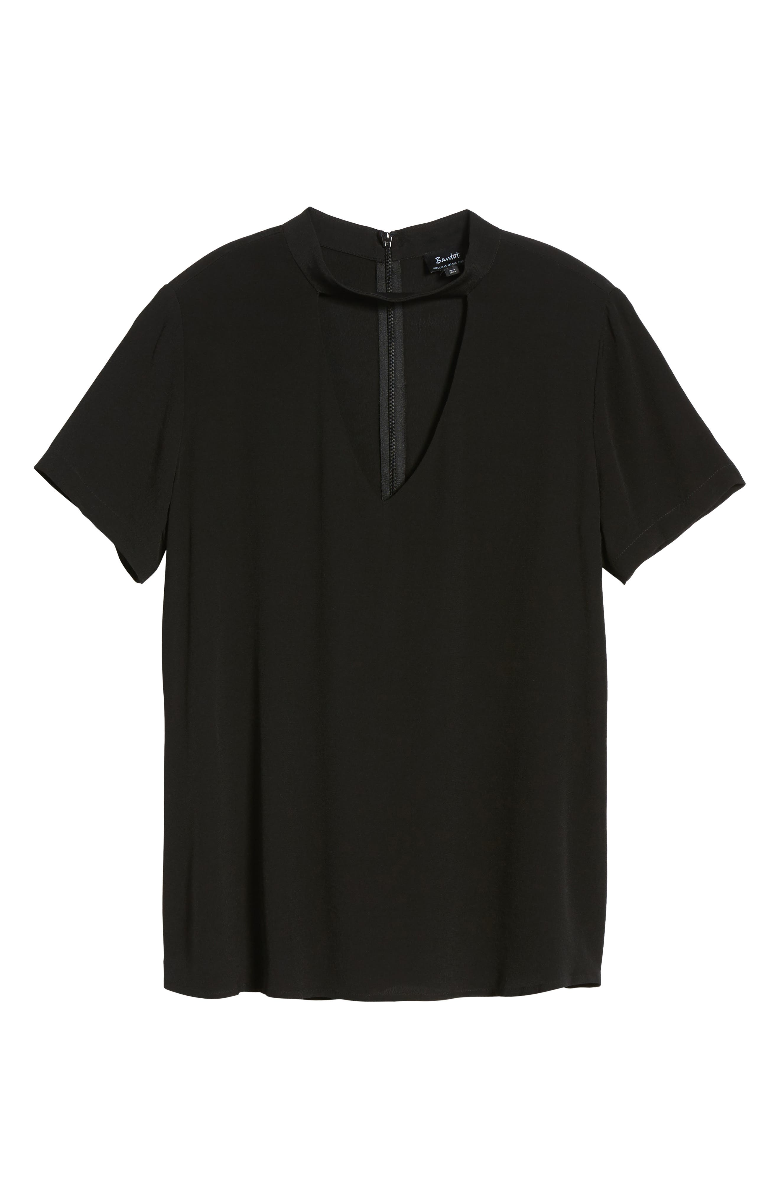 Band Neck Top,                             Alternate thumbnail 6, color,                             001