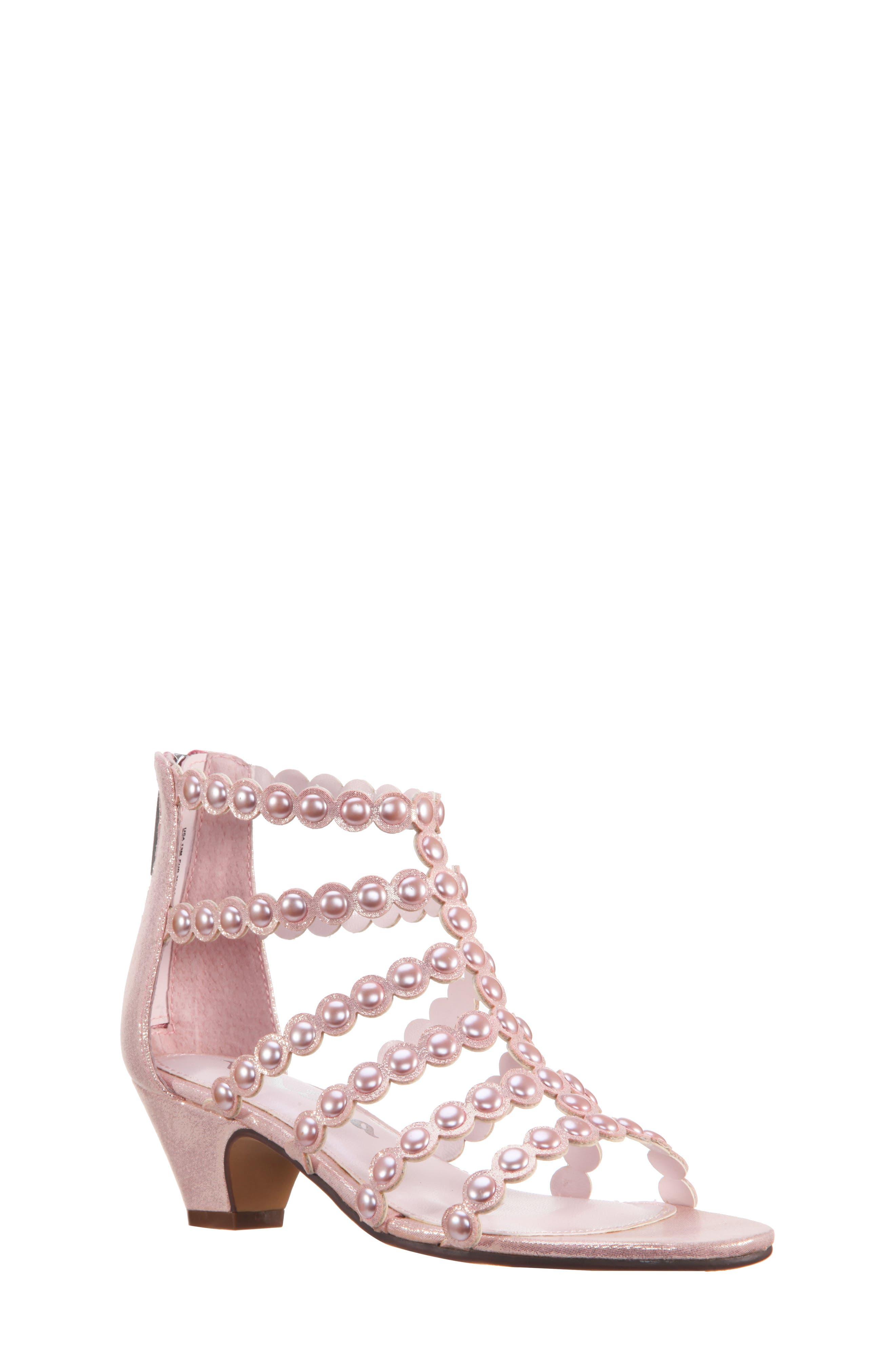Princess-P Shimmer Sandal,                             Main thumbnail 2, color,