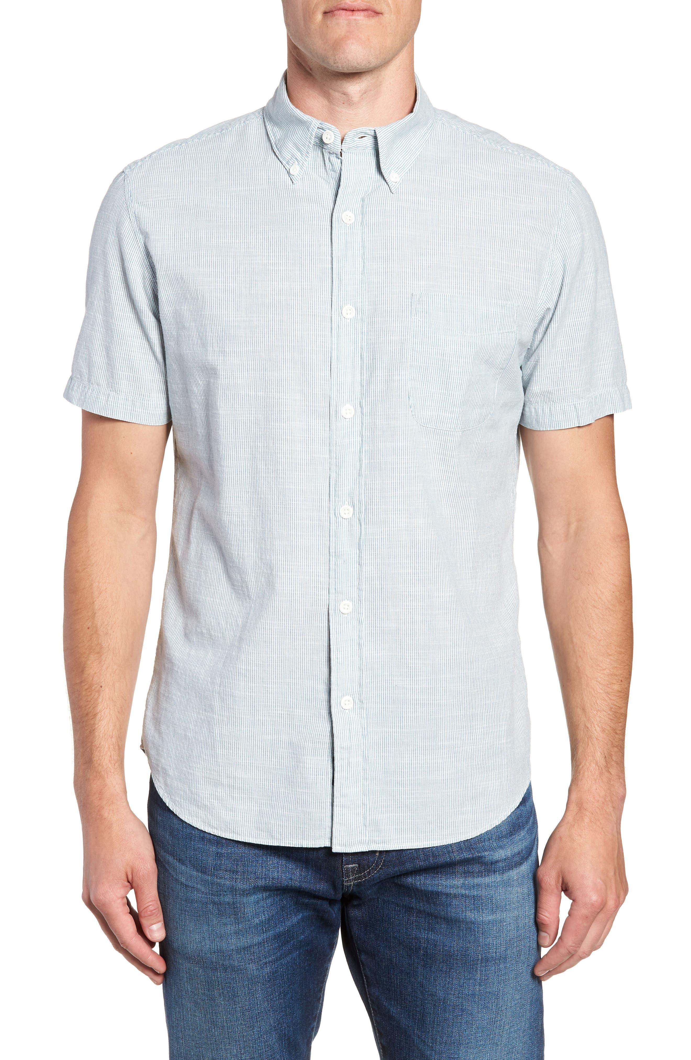 Pacific Pinstripe Sport Shirt,                             Main thumbnail 1, color,                             100