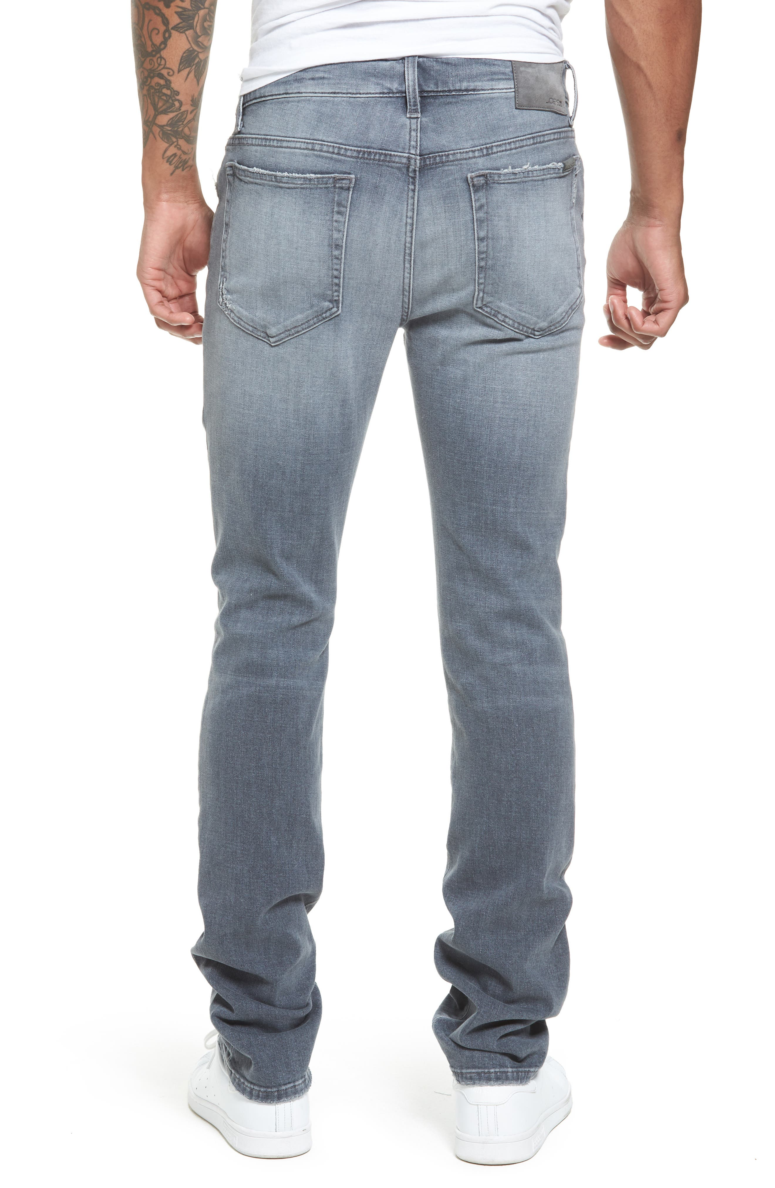 Brixton Distressed Slim Straight Fit Jeans,                             Alternate thumbnail 2, color,                             051