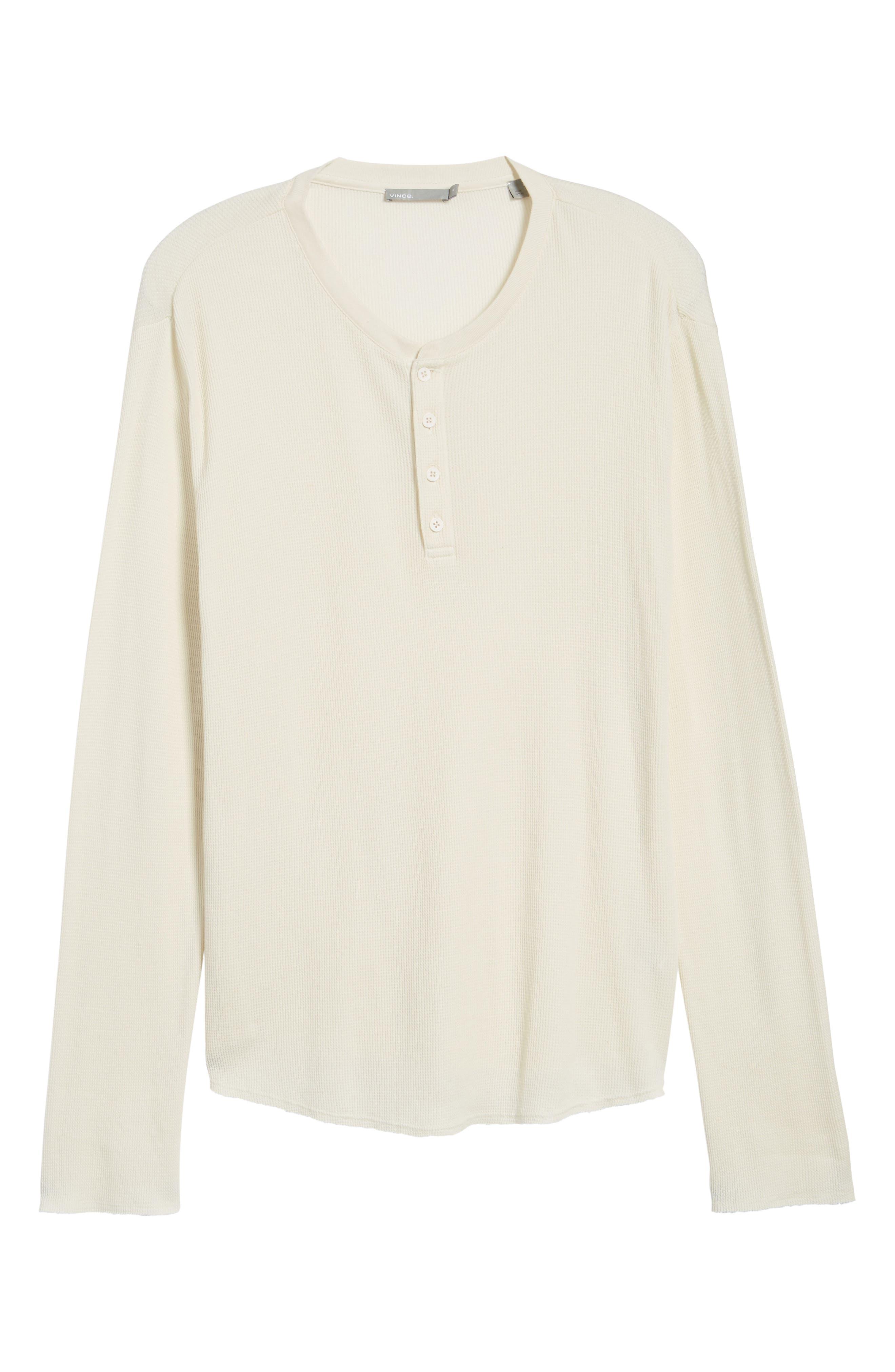 Thermal Knit Long Sleeve Henley T-Shirt,                             Alternate thumbnail 6, color,                             101