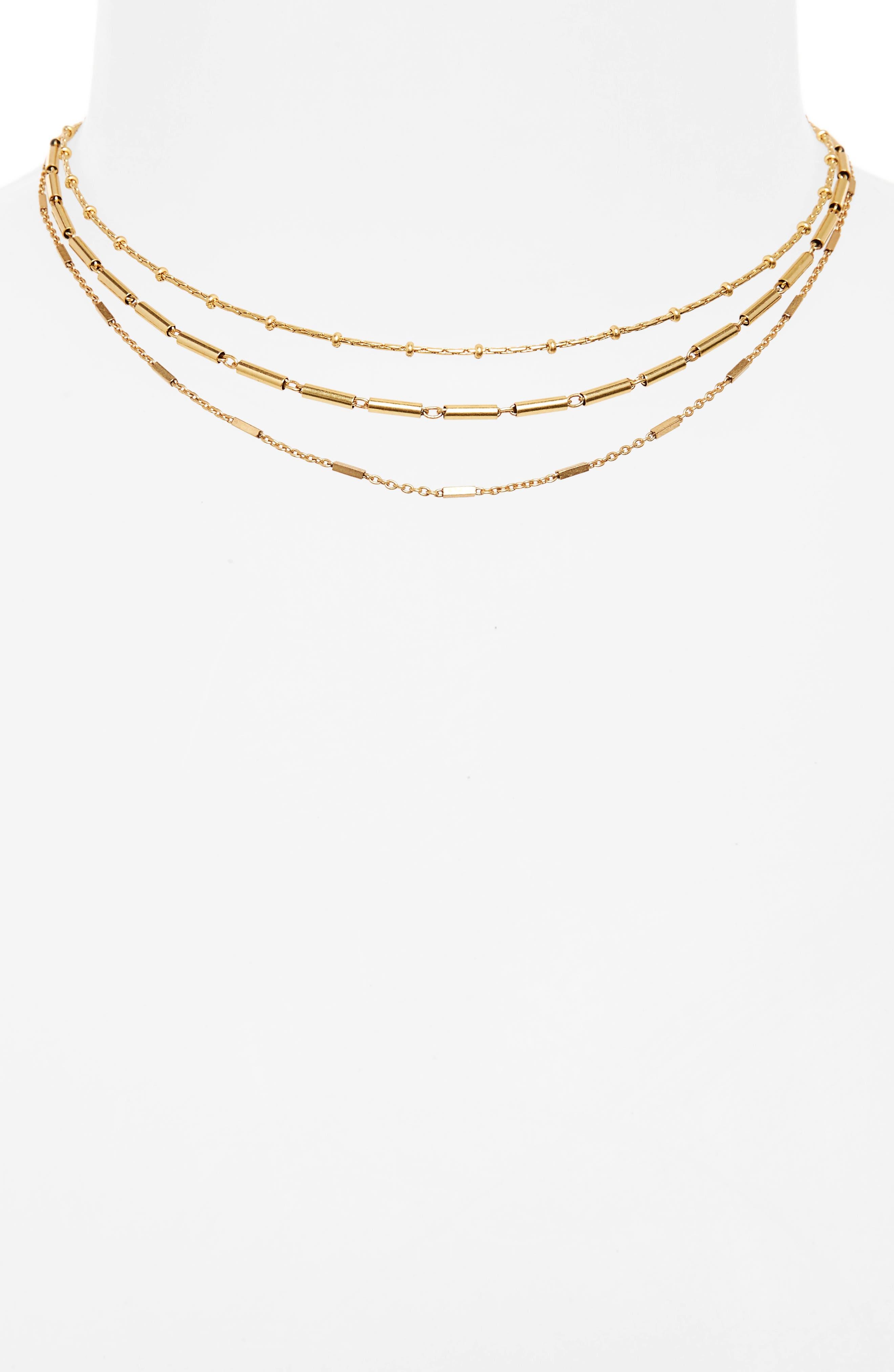 Multistrand Choker Necklace,                             Alternate thumbnail 2, color,                             710