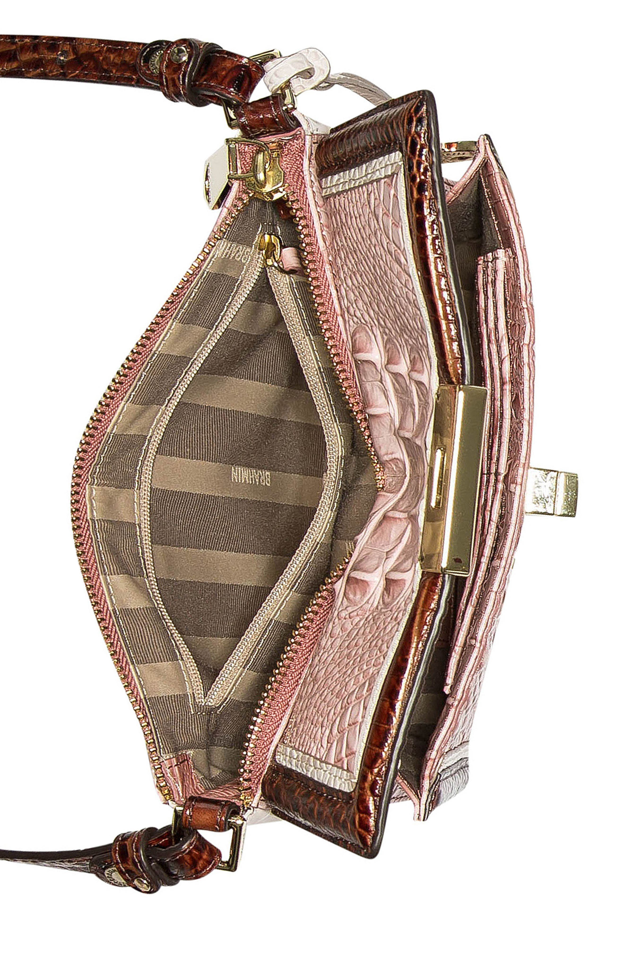 Marquis Chambery - Manhattan Croc Embossed Leather Crossbody Bag,                             Alternate thumbnail 3, color,