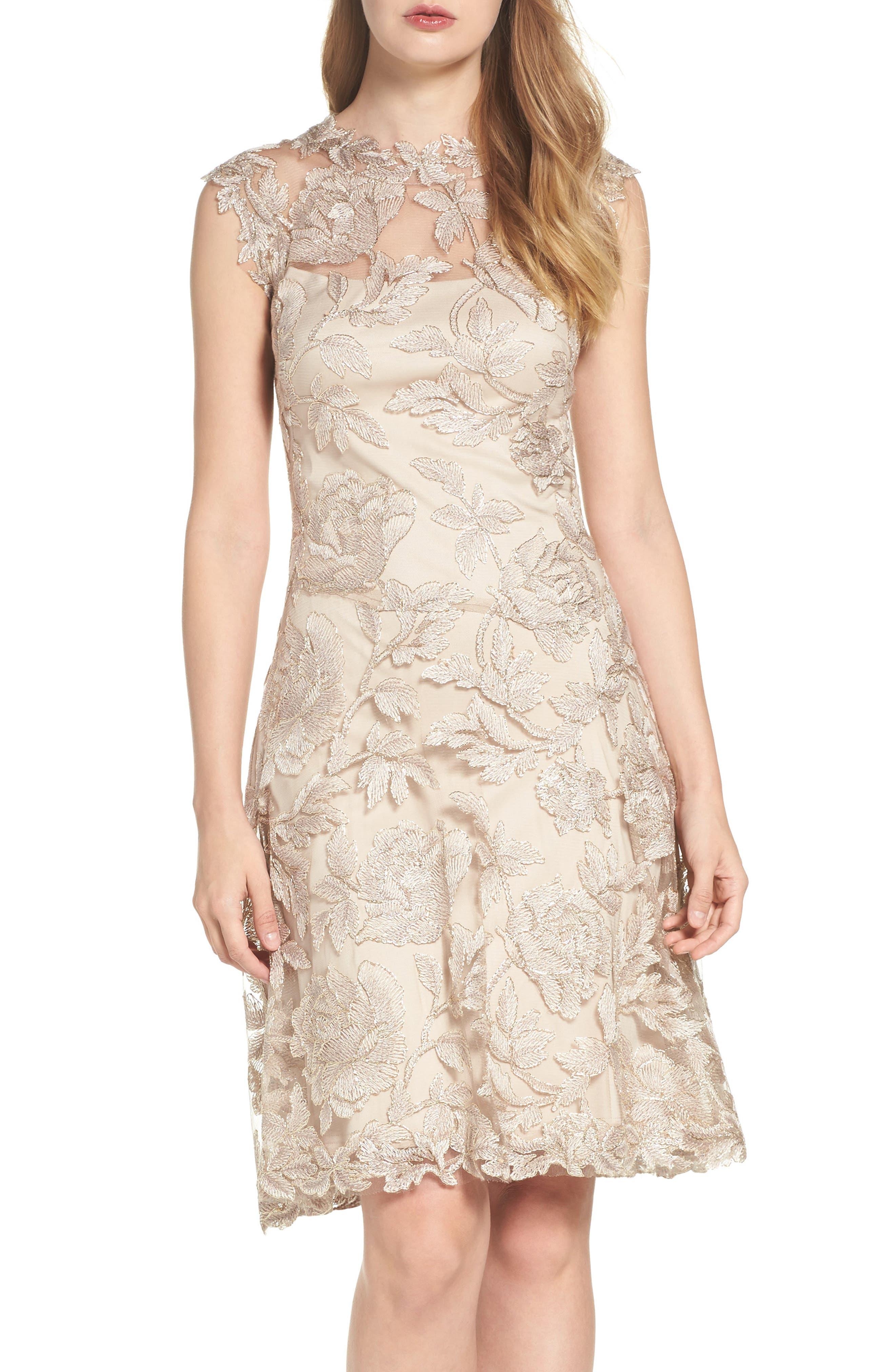 Noelle Floral Fit & Flare Dress,                             Main thumbnail 4, color,