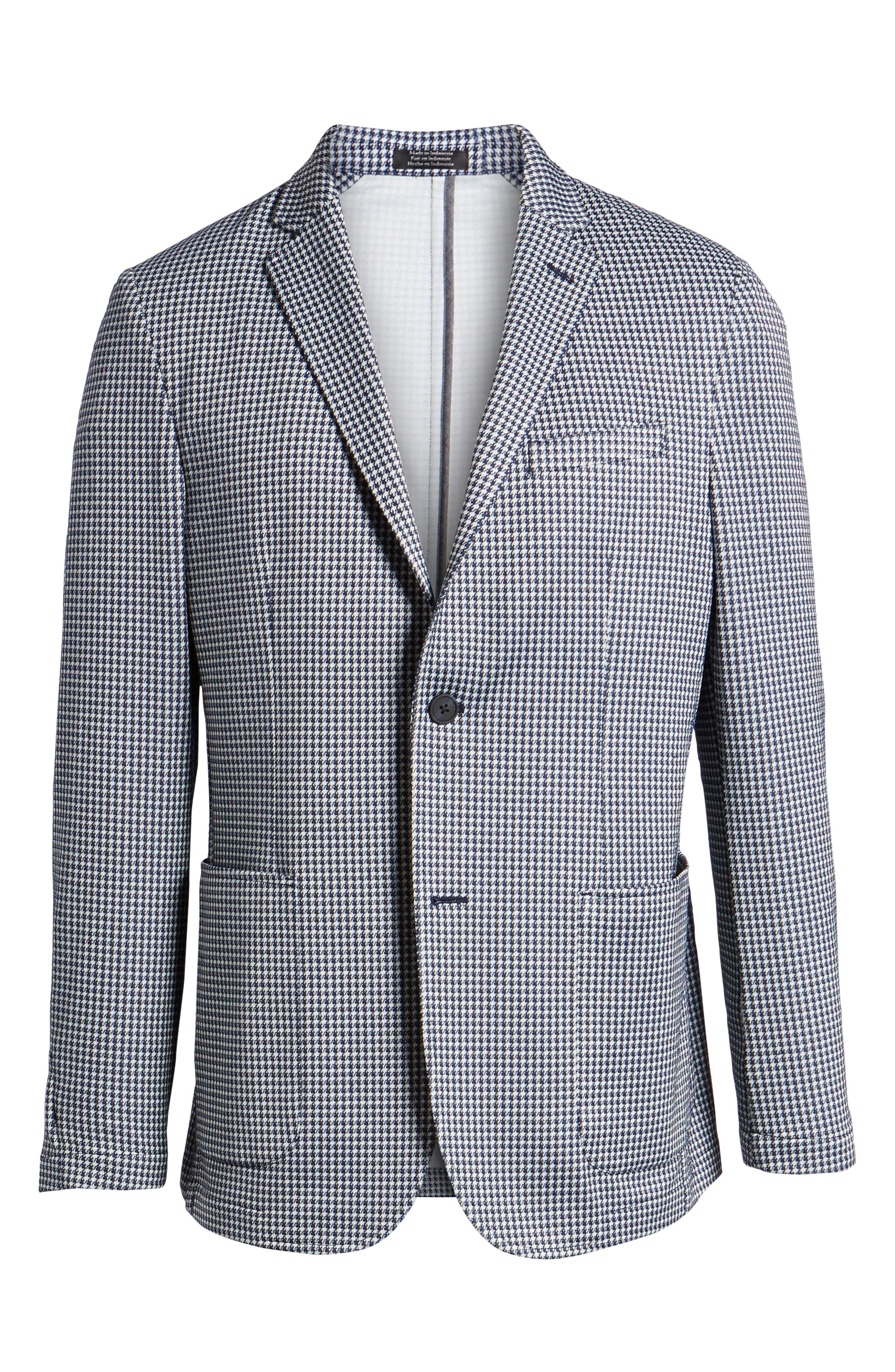 Slim Fit Stretch Houndstooth Sport Coat,                             Alternate thumbnail 5, color,                             410