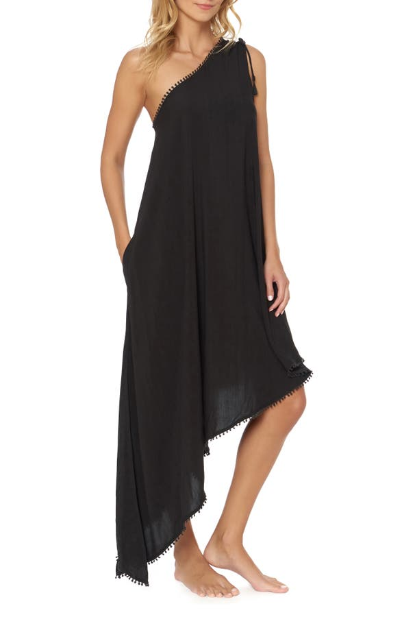 Red Carter Dresses ONE-SHOULDER MAXI COVER-UP DRESS