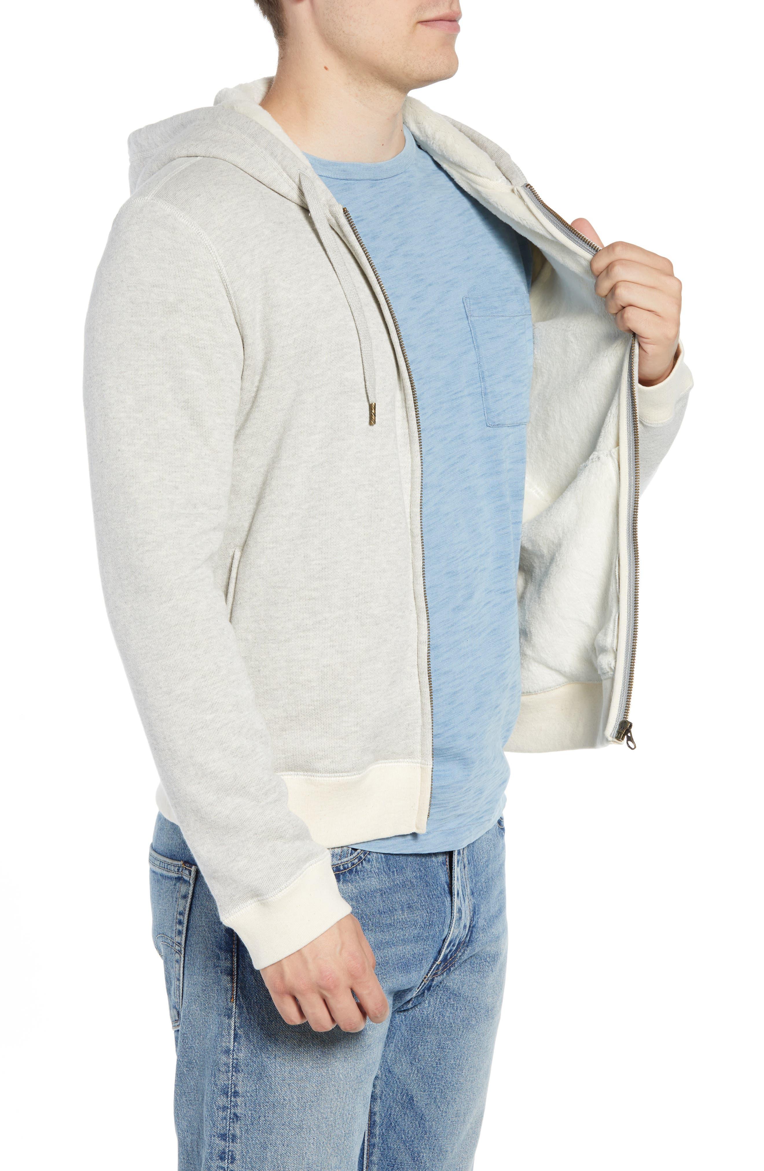 BILLY REID,                             Panelled Fleece Zip Hoodie,                             Alternate thumbnail 3, color,                             032