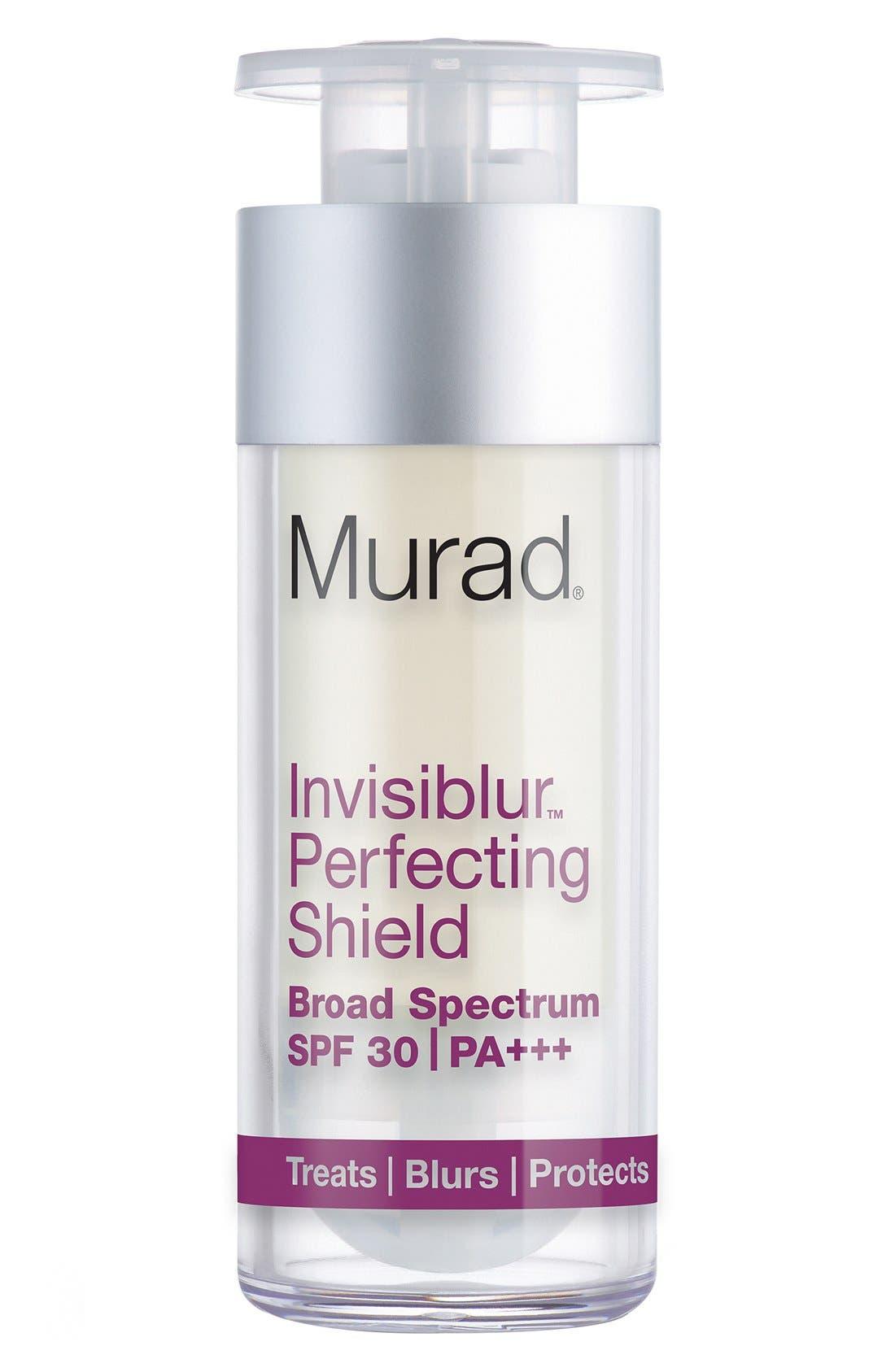 'Invisiblur<sup>™</sup>' Perfecting Shield Broad Spectrum SPF 30 PA+++,                         Main,                         color, NO COLOR