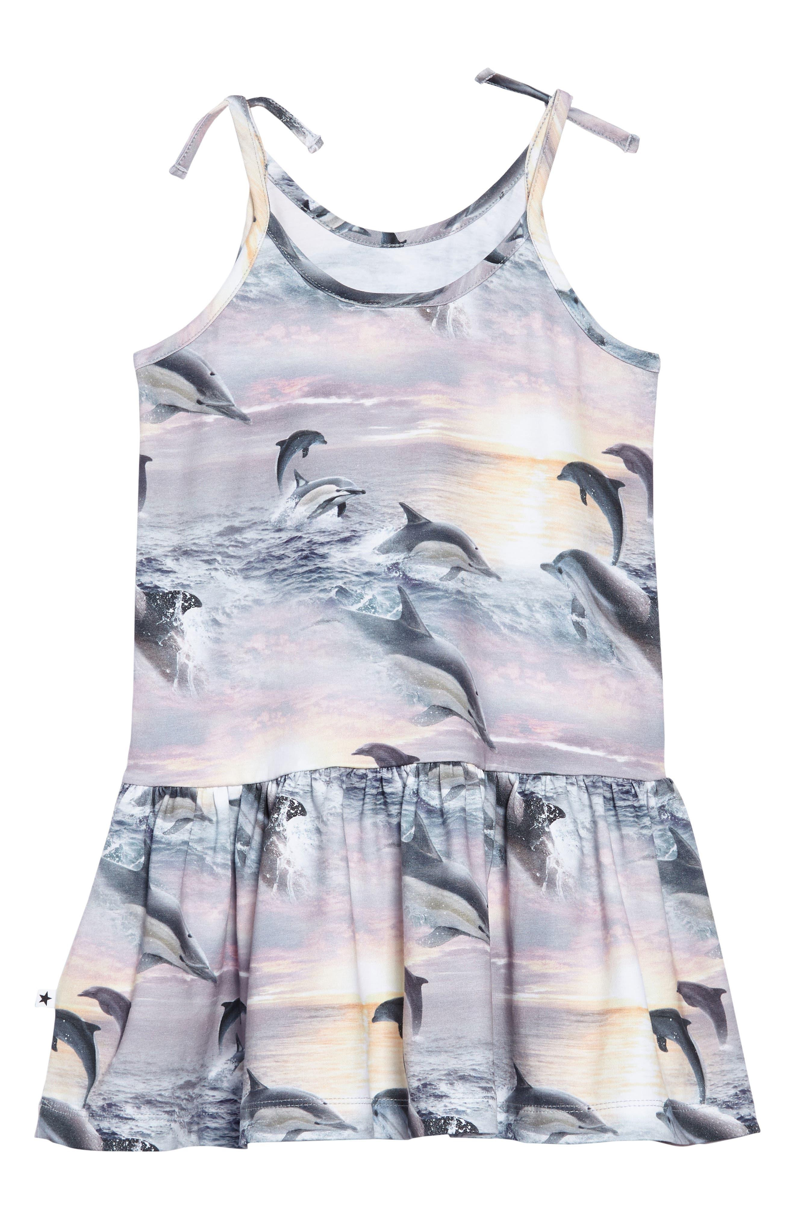 Camilla Dolphin Dress,                             Alternate thumbnail 2, color,                             DOLPHIN SUNSET