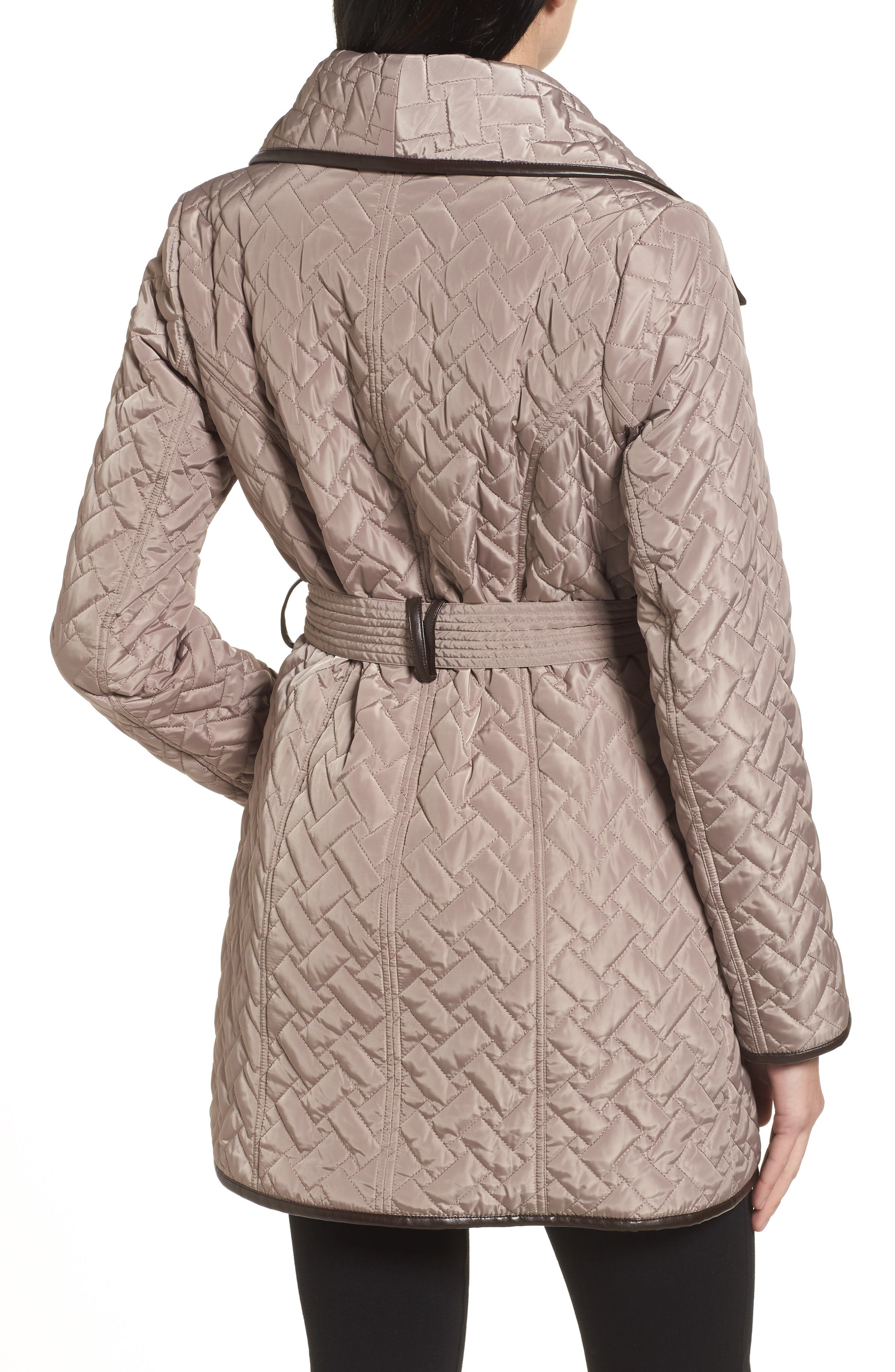 Water Resistant Quilted Wrap Coat,                             Alternate thumbnail 2, color,                             284