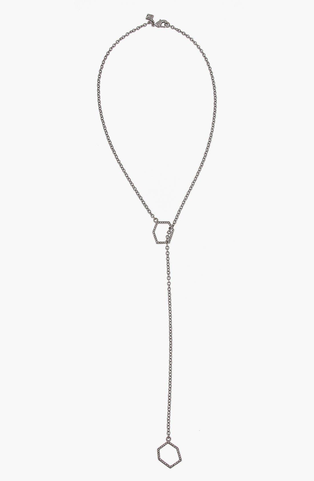 'Gem Hex' Pavé Y-Necklace,                         Main,                         color,