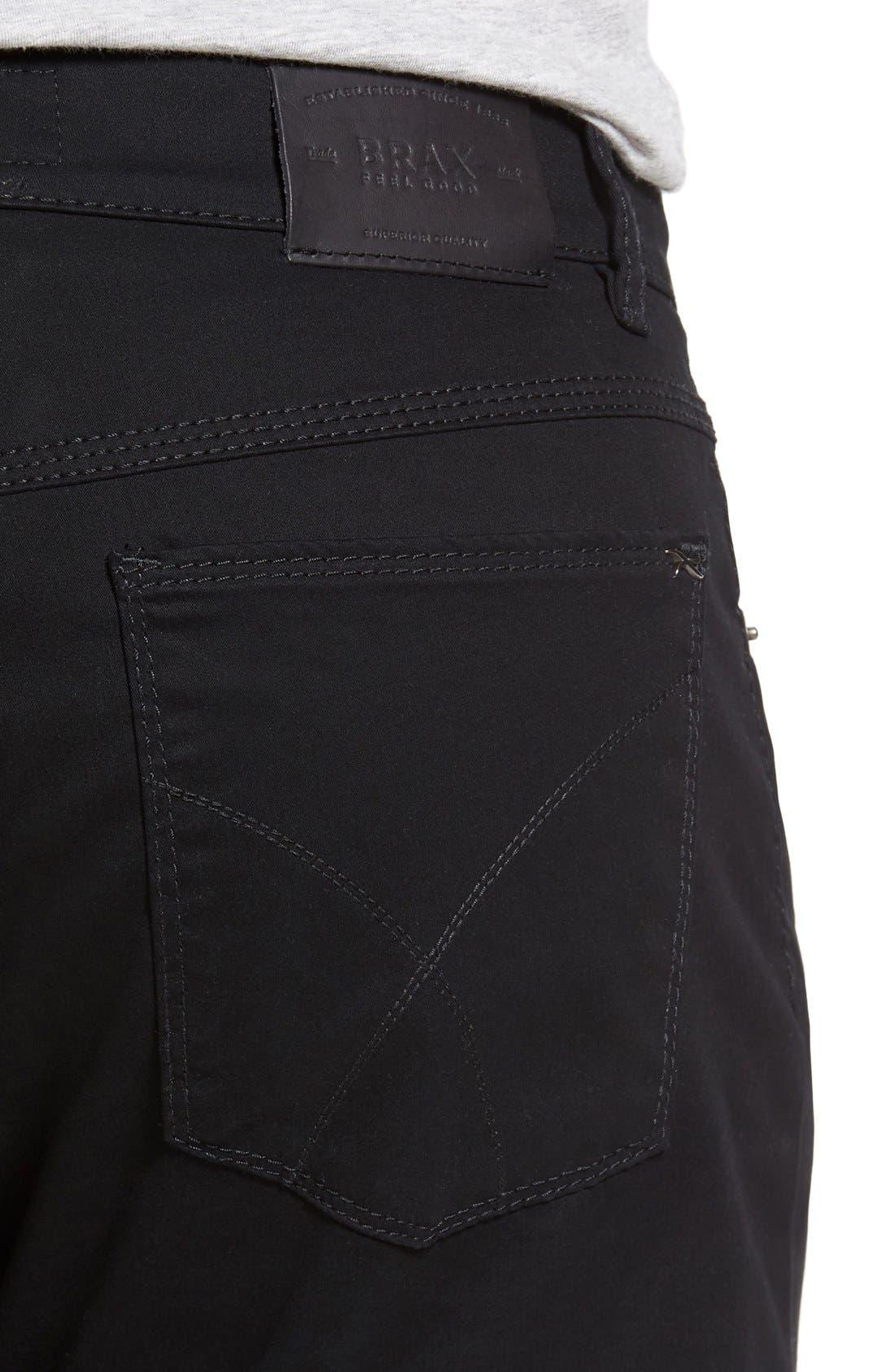 Cooper Prestige Stretch Cotton Pants,                             Alternate thumbnail 10, color,                             PERMA BLACK
