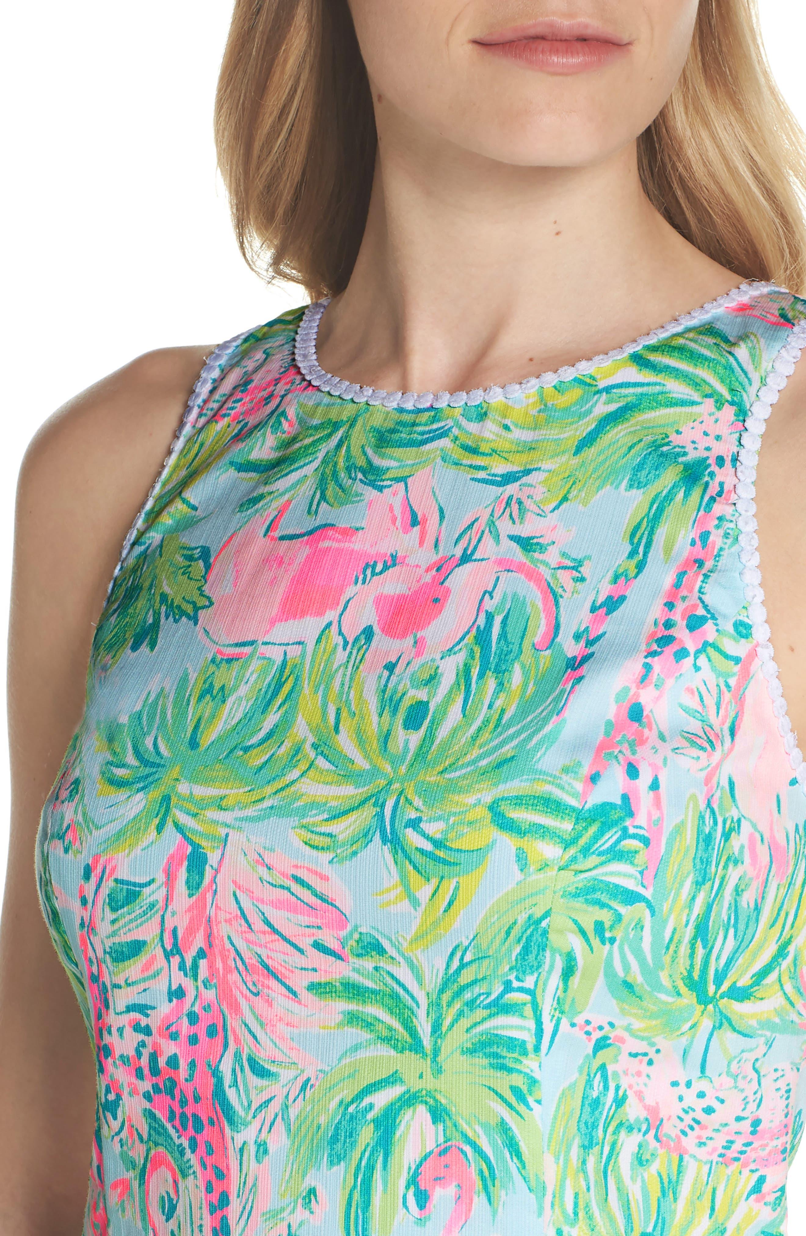 Mila Cotton Minidress,                             Alternate thumbnail 4, color,                             400