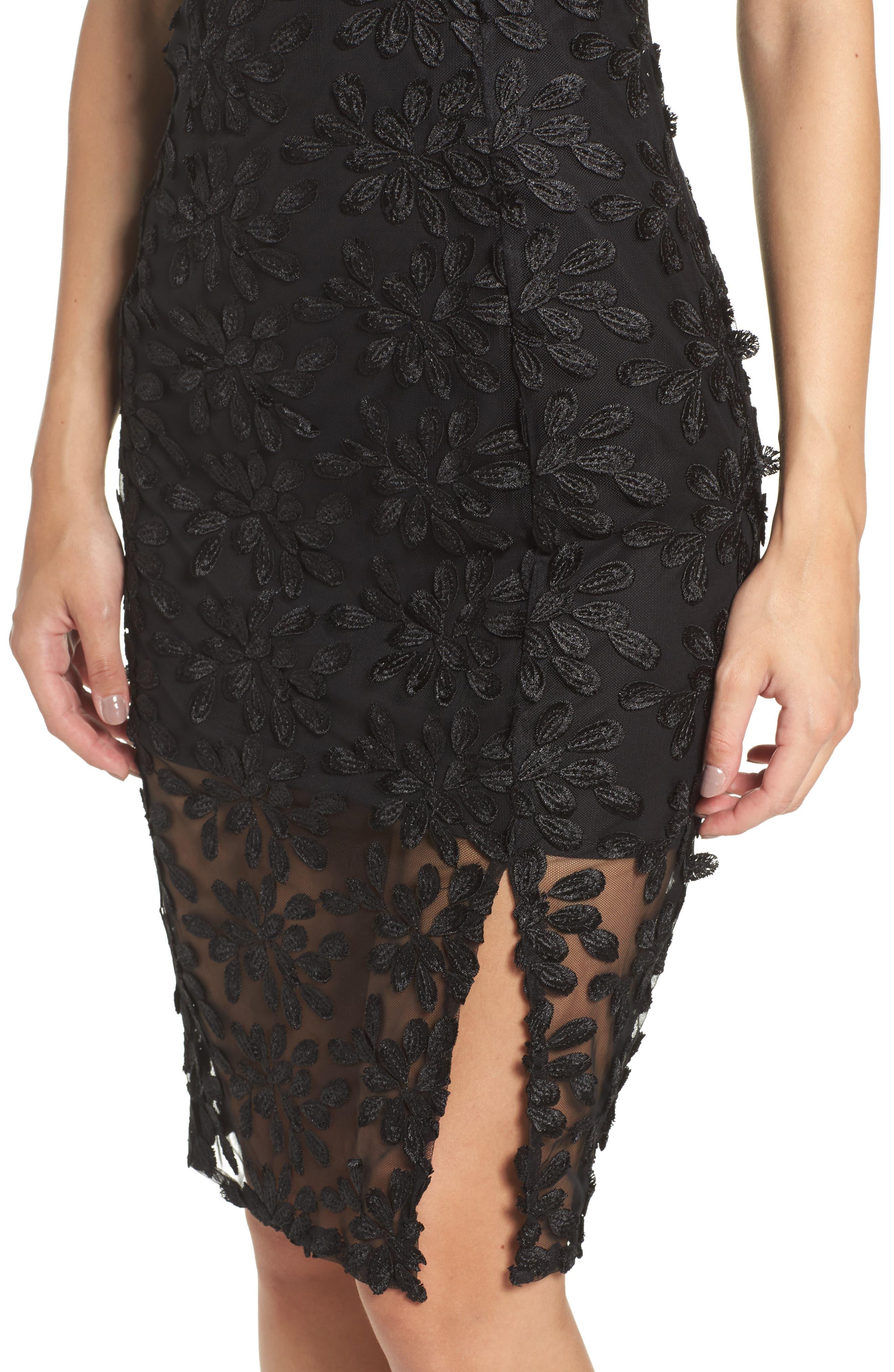 Fiona Lace Dress,                             Alternate thumbnail 4, color,                             001