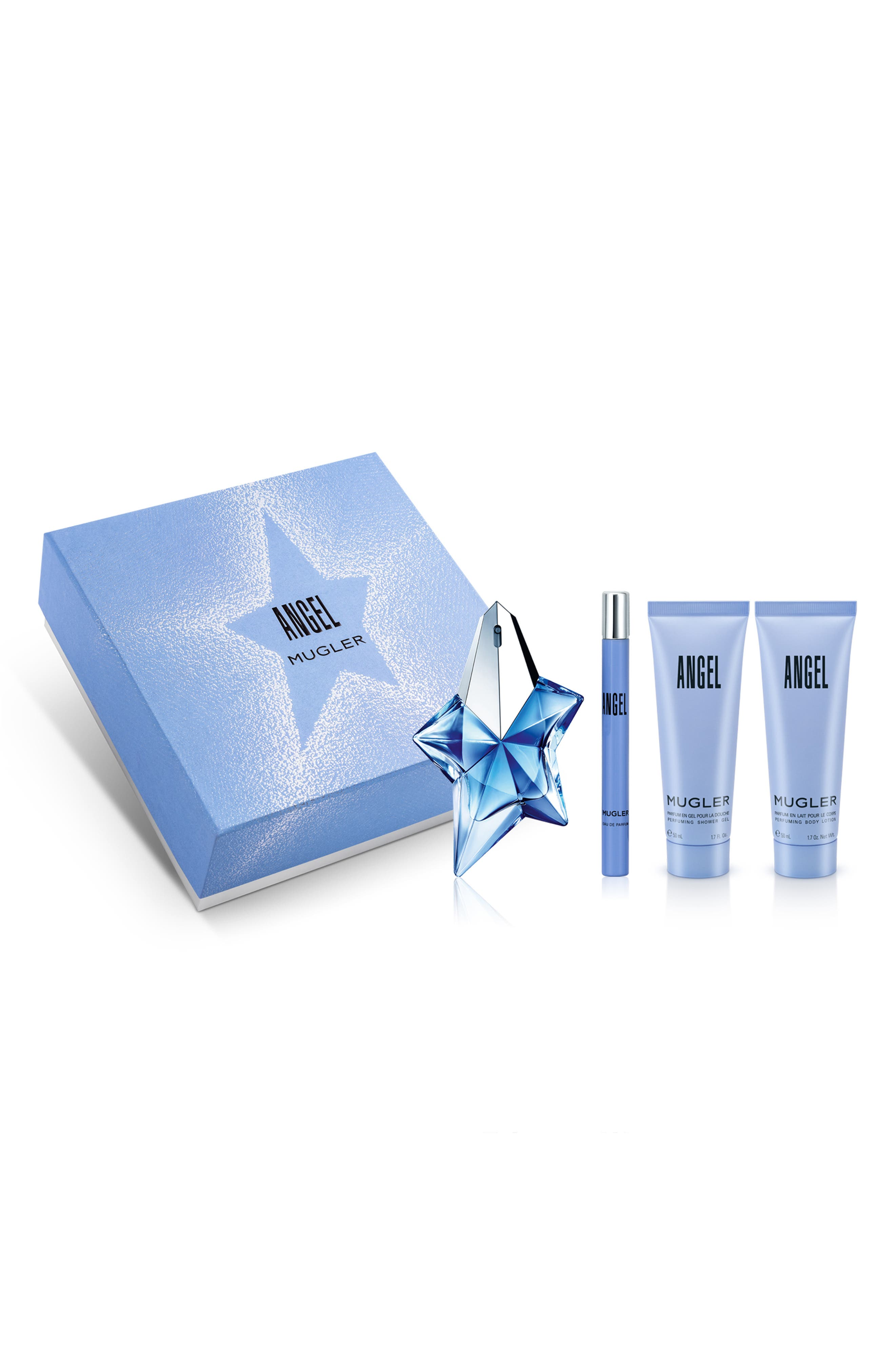 Angel by Mugler Four Piece Fragrance Set,                             Main thumbnail 1, color,                             NO COLOR