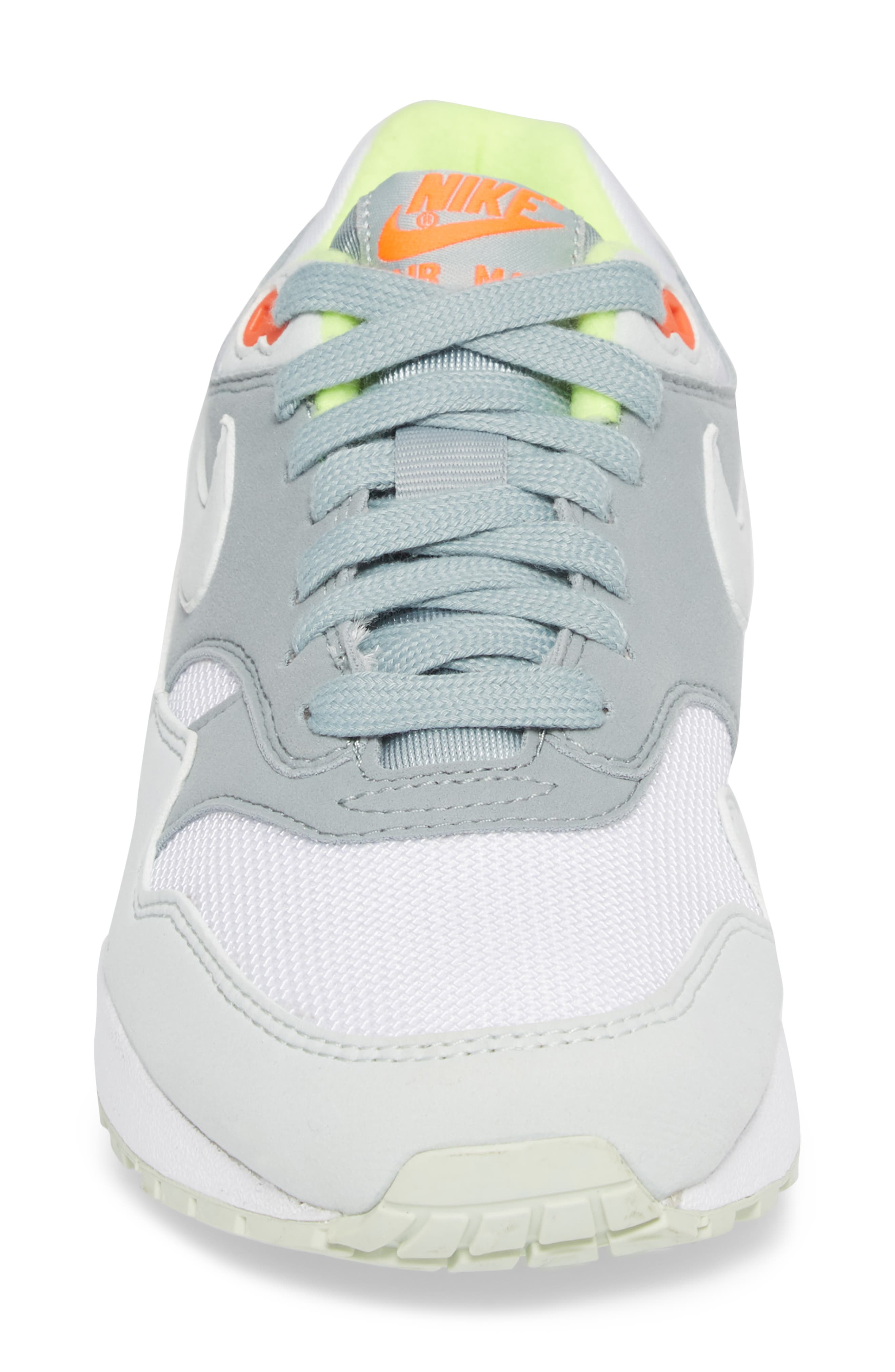 'Air Max 1 ND' Sneaker,                             Alternate thumbnail 4, color,                             WHITE/ BARELY GREY