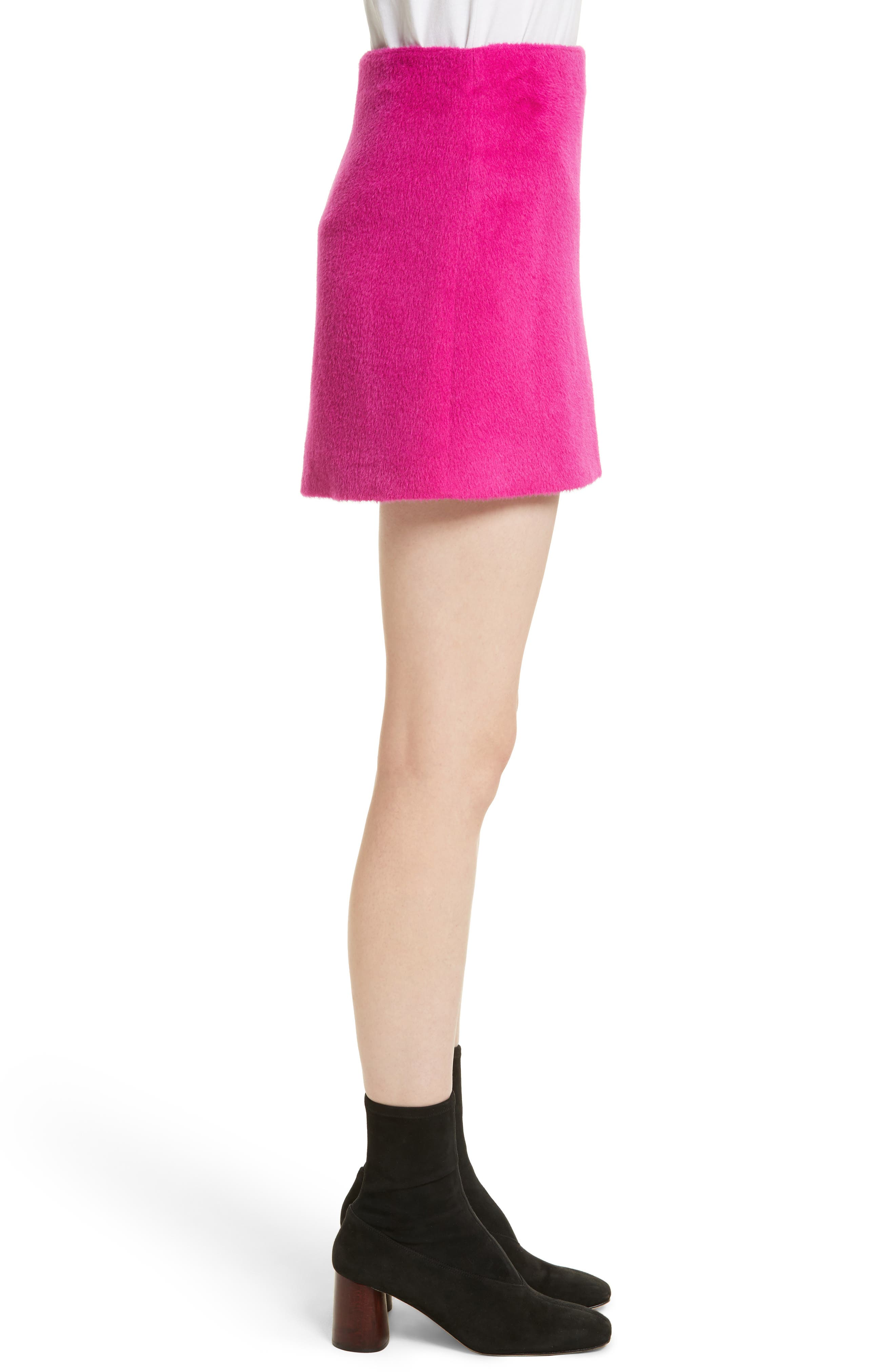 Re-Edition Brushed Alpaca & Wool Skirt,                             Alternate thumbnail 3, color,