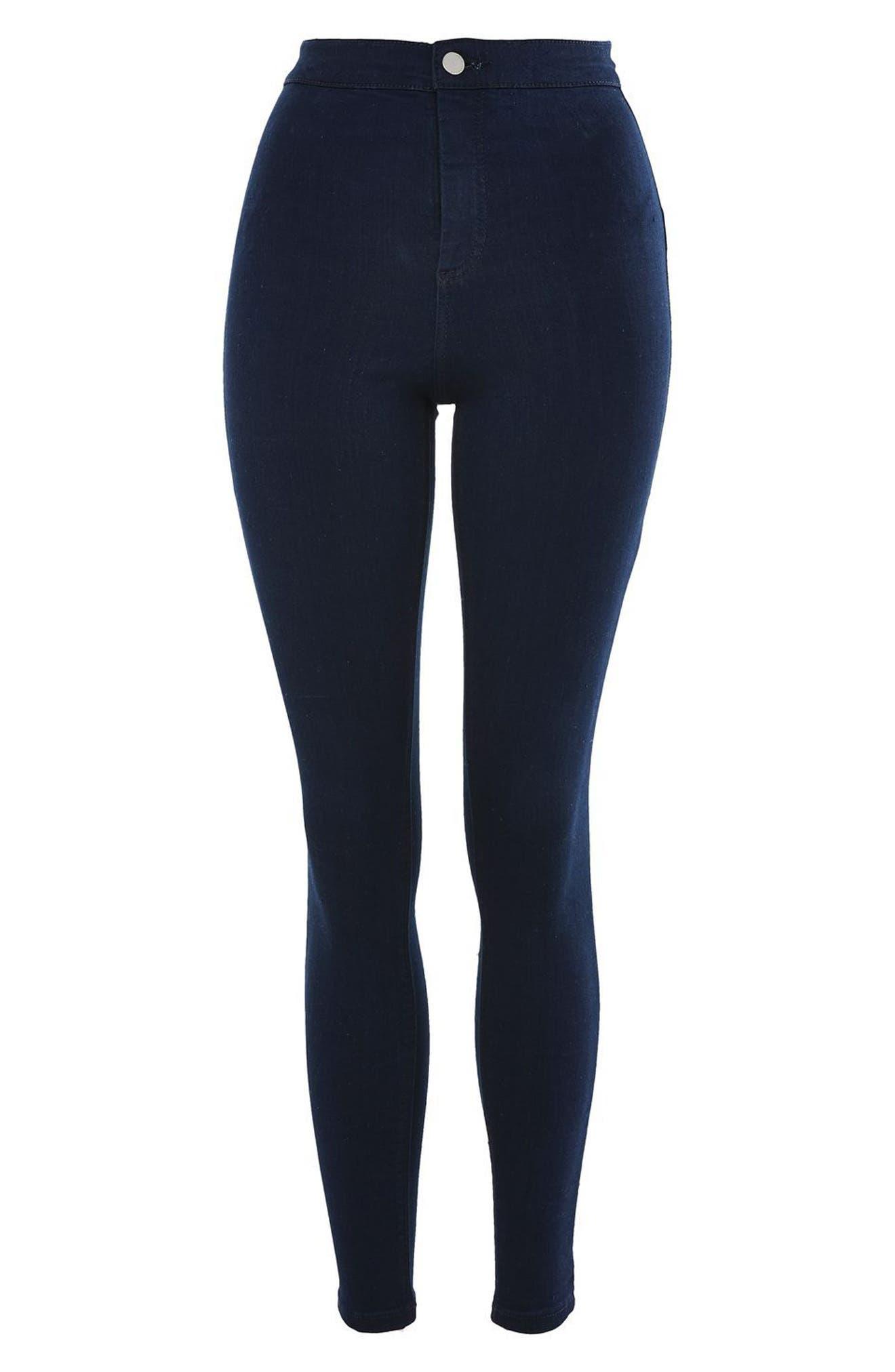 Joni High Waist Skinny Jeans,                             Alternate thumbnail 3, color,                             DARK INDIGO