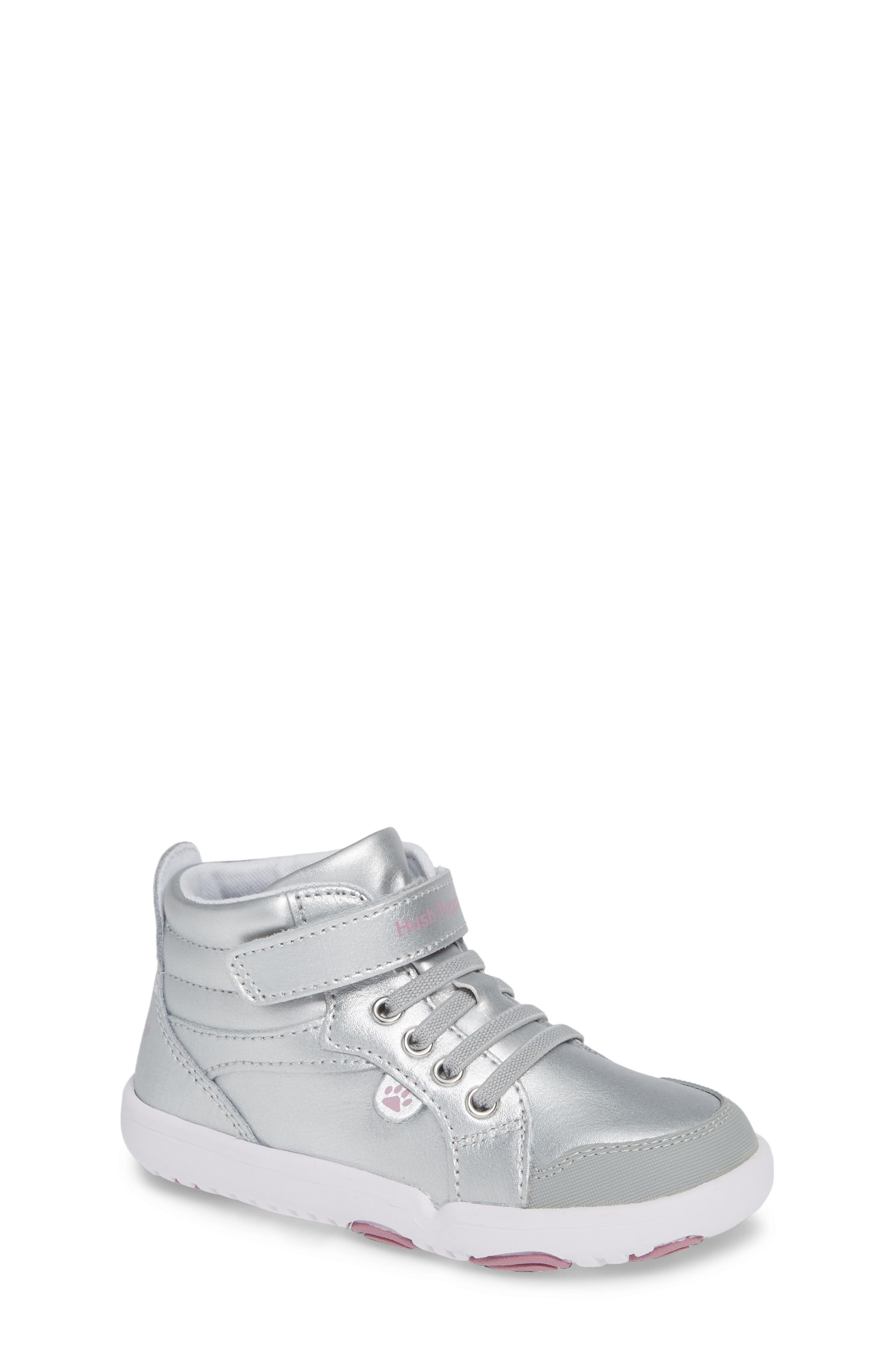 Buddy High Top Sneaker,                             Main thumbnail 1, color,                             SILVER