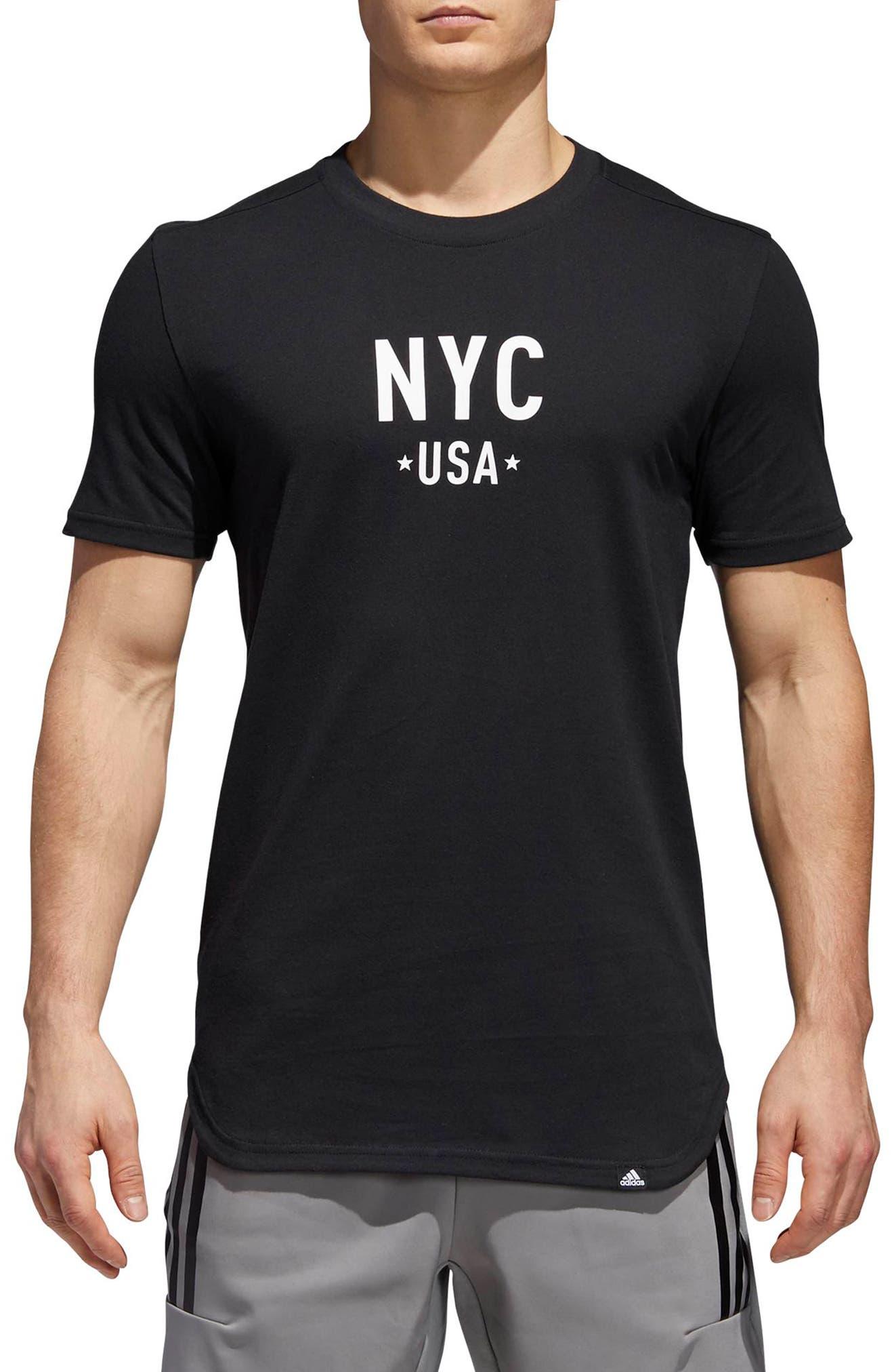 Elevate NYC Crweneck T-Shirt,                         Main,                         color, 001
