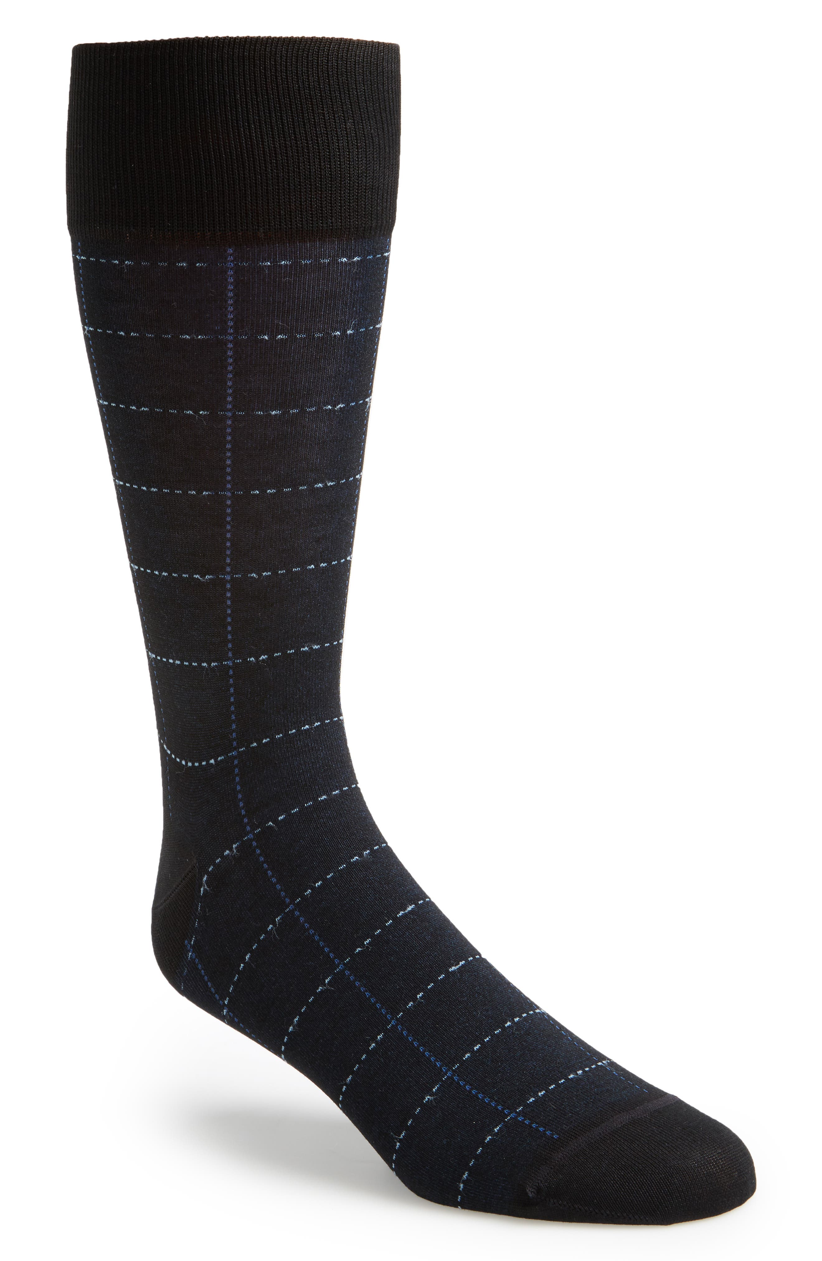 Broken Grid Socks,                         Main,                         color, 001