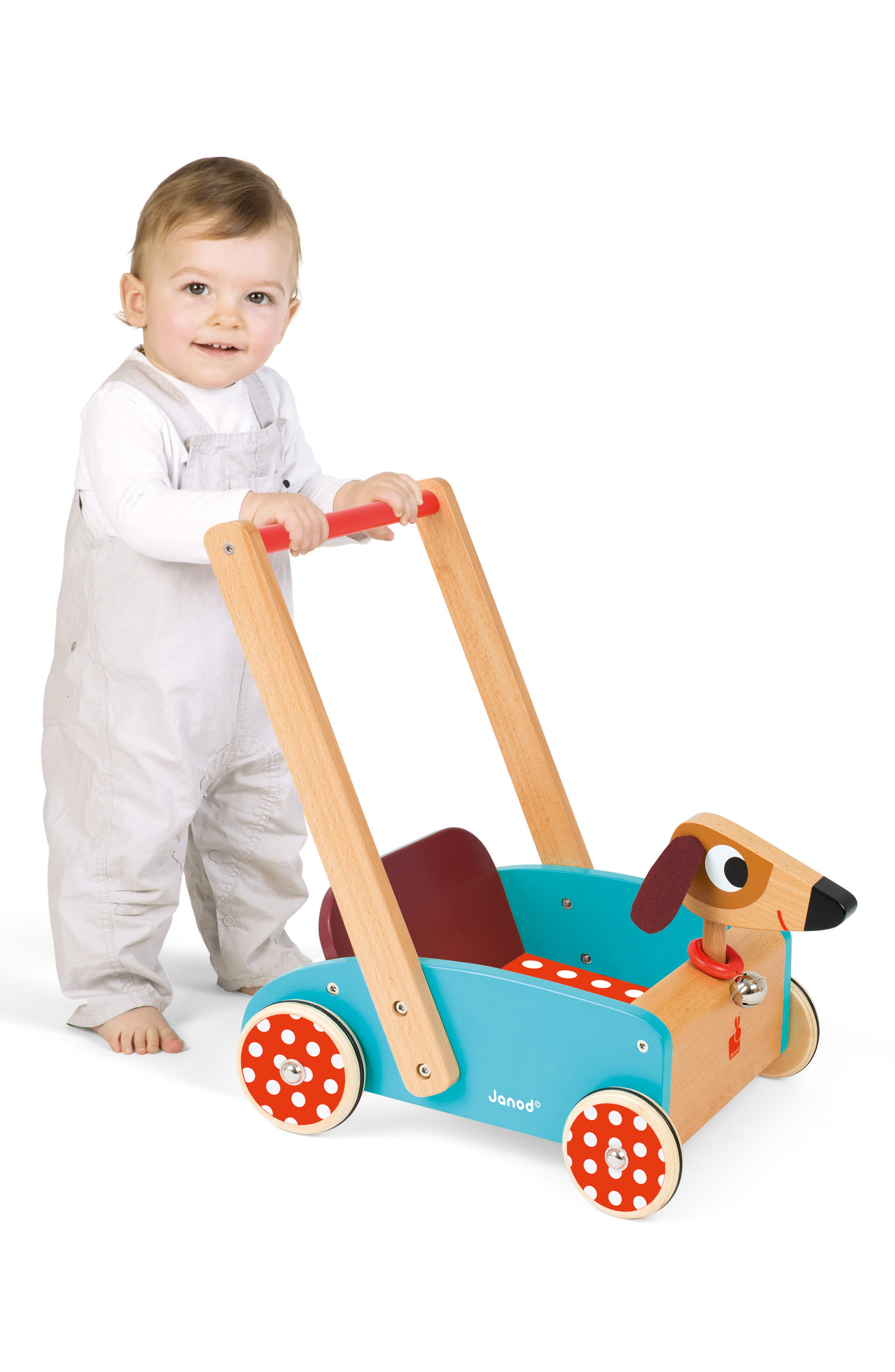Wood Dog Cart,                             Alternate thumbnail 6, color,                             MULTI