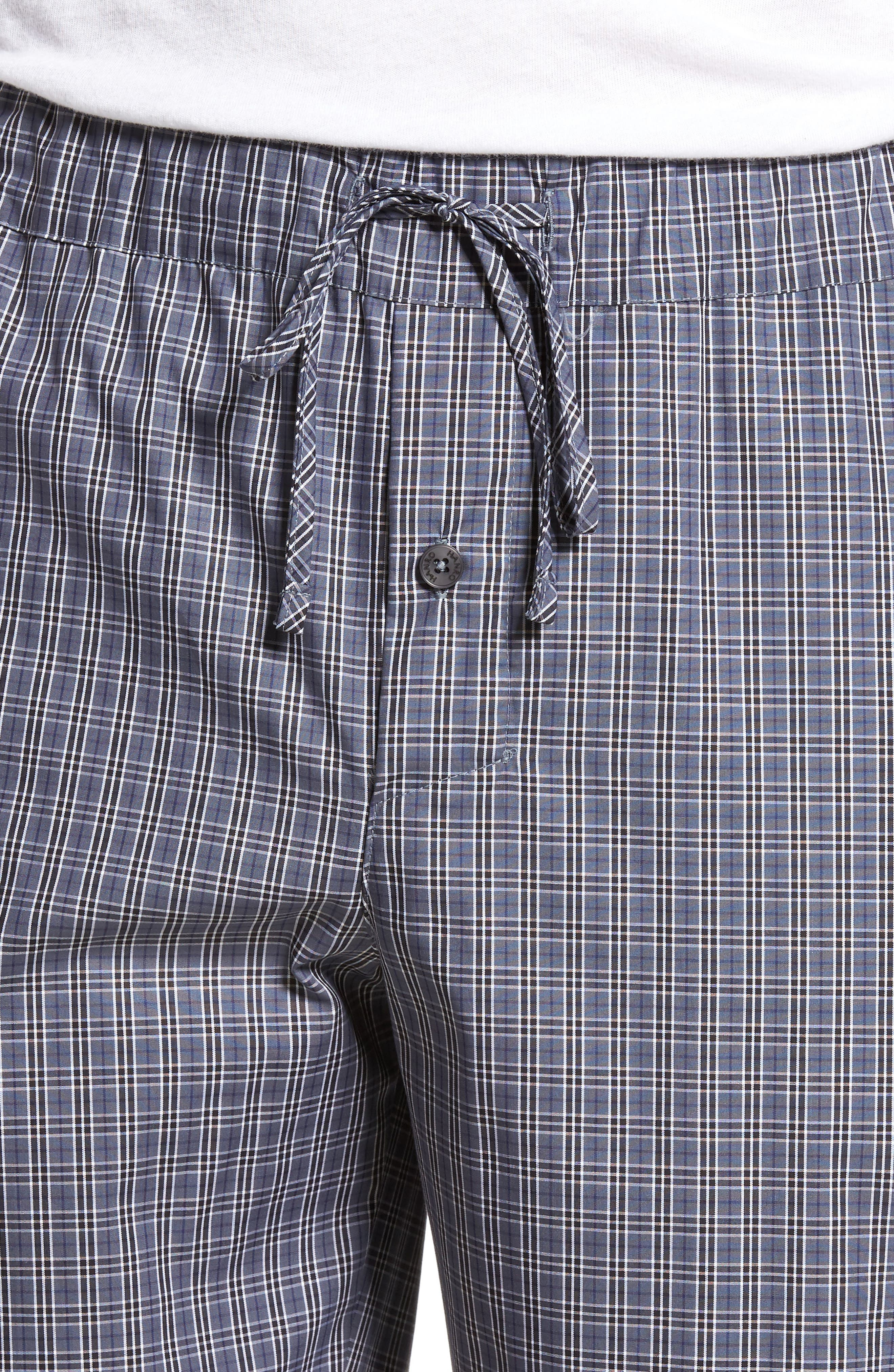 Night & Day Woven Lounge Pants,                             Alternate thumbnail 4, color,                             GREY CHECK