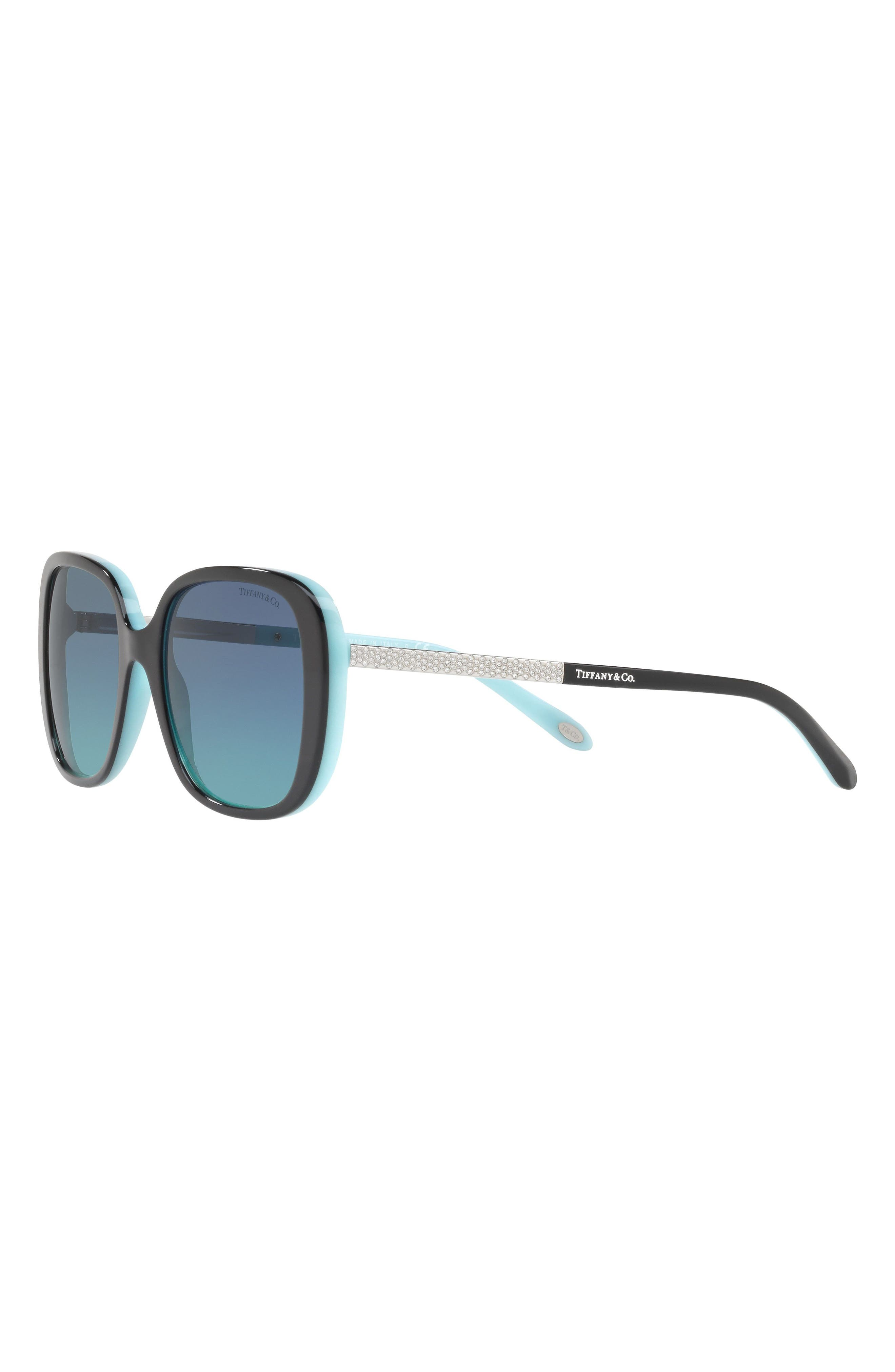 54mm Gradient Sunglasses,                             Alternate thumbnail 4, color,                             BLACK/ BLUE