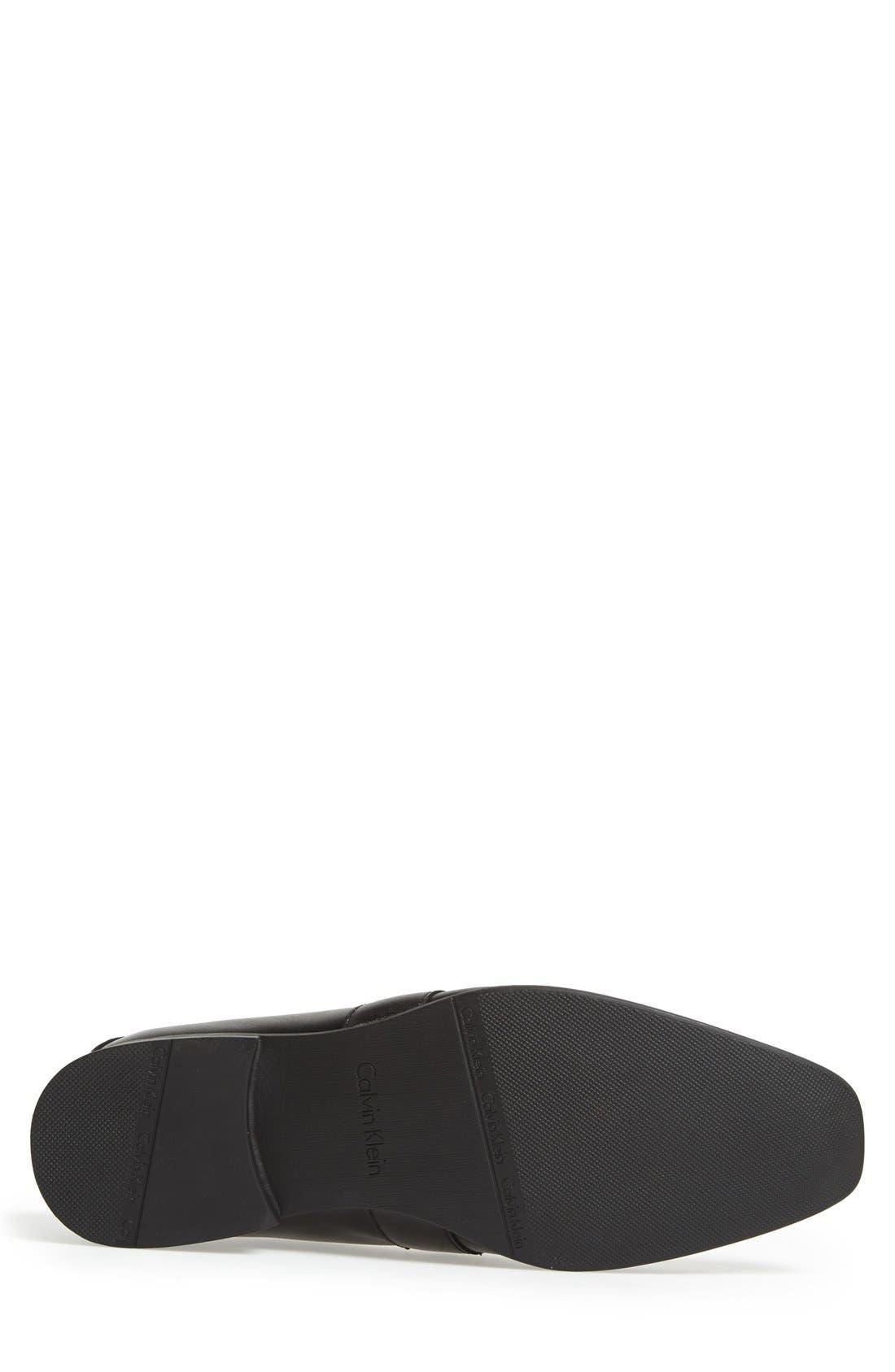'Bartley' Bit Loafer,                             Alternate thumbnail 6, color,                             BLACK