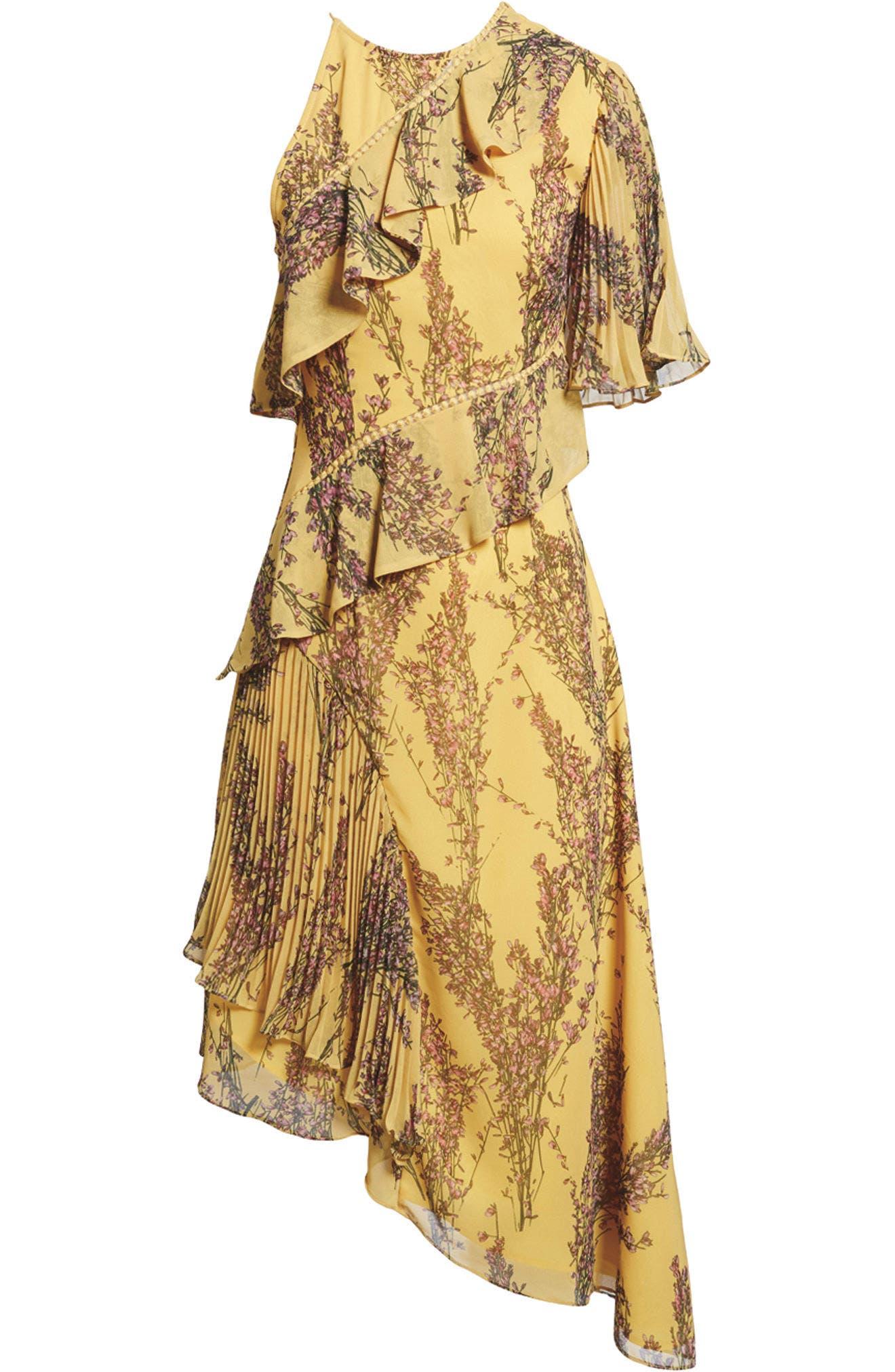 Asymmetrical Ruffle Dress,                             Alternate thumbnail 12, color,                             622