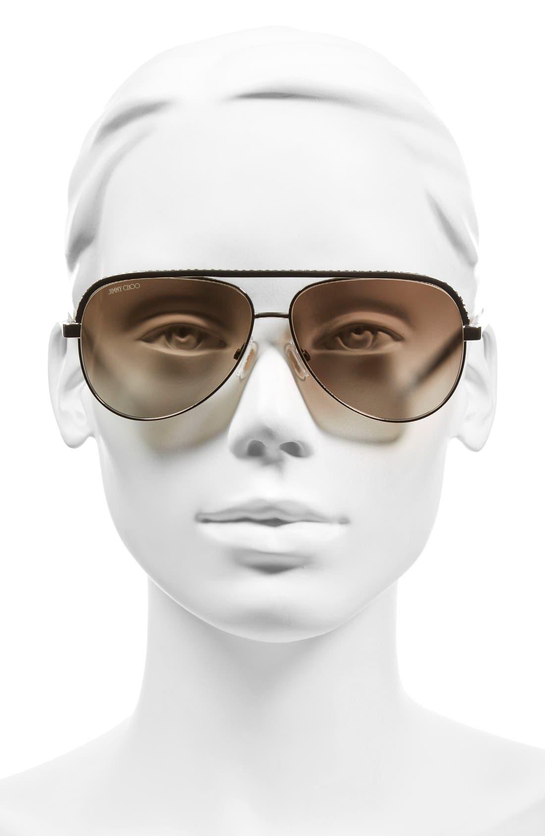 'Linas' 59mm Aviator Sunglasses,                             Alternate thumbnail 6, color,
