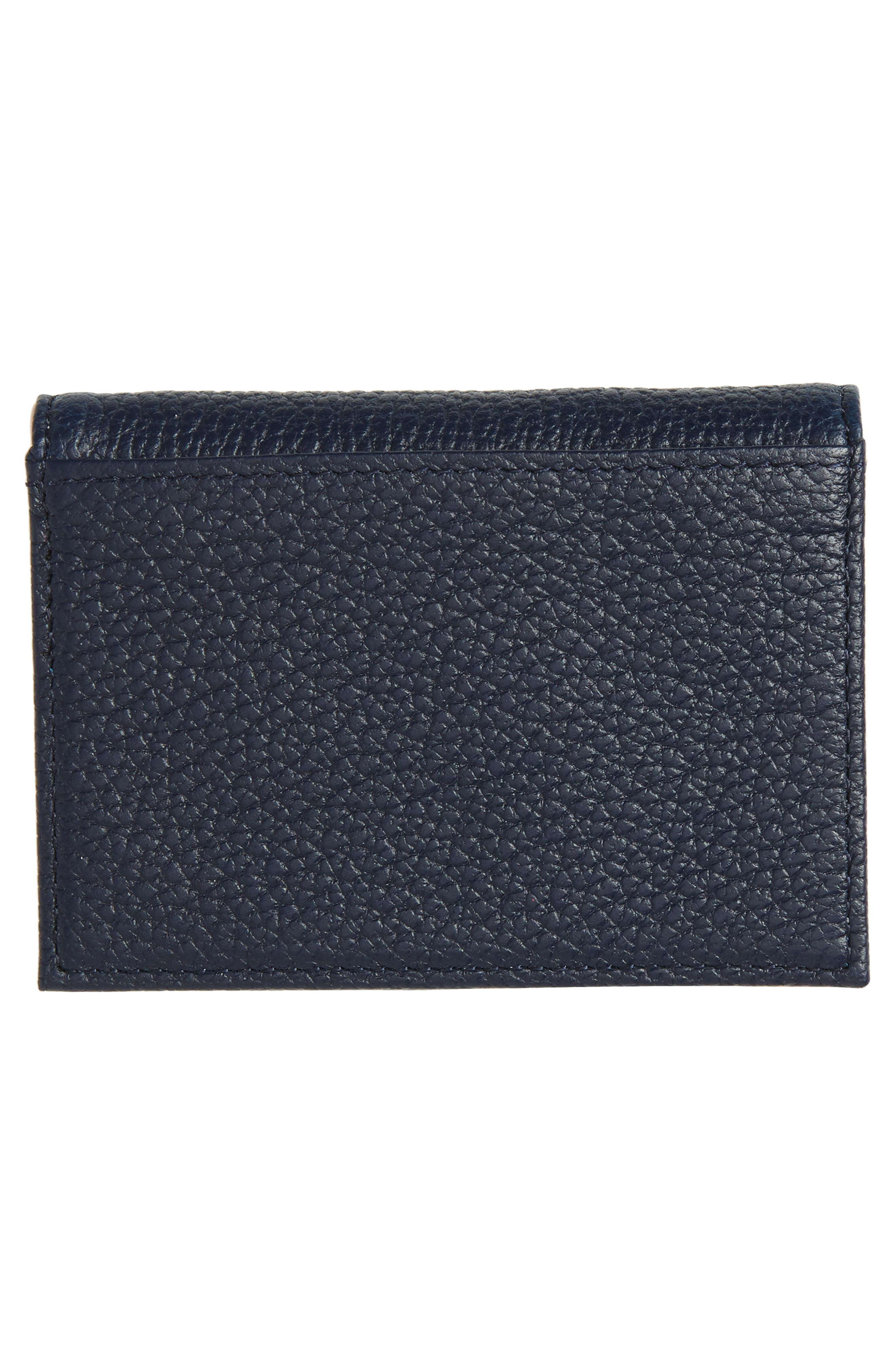 Braylon Pebbled Leather Card Case,                             Alternate thumbnail 3, color,                             400