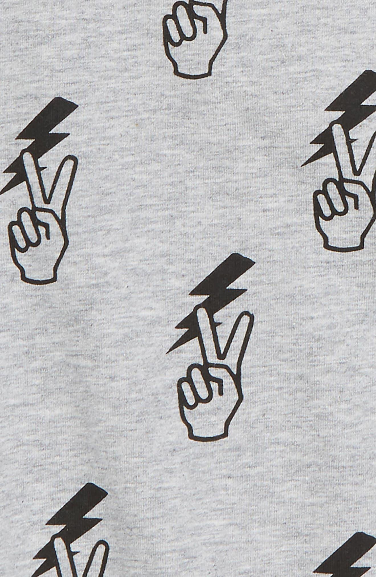 Peace Graphic Long Sleeve T-Shirt,                             Alternate thumbnail 2, color,                             GREY MARL