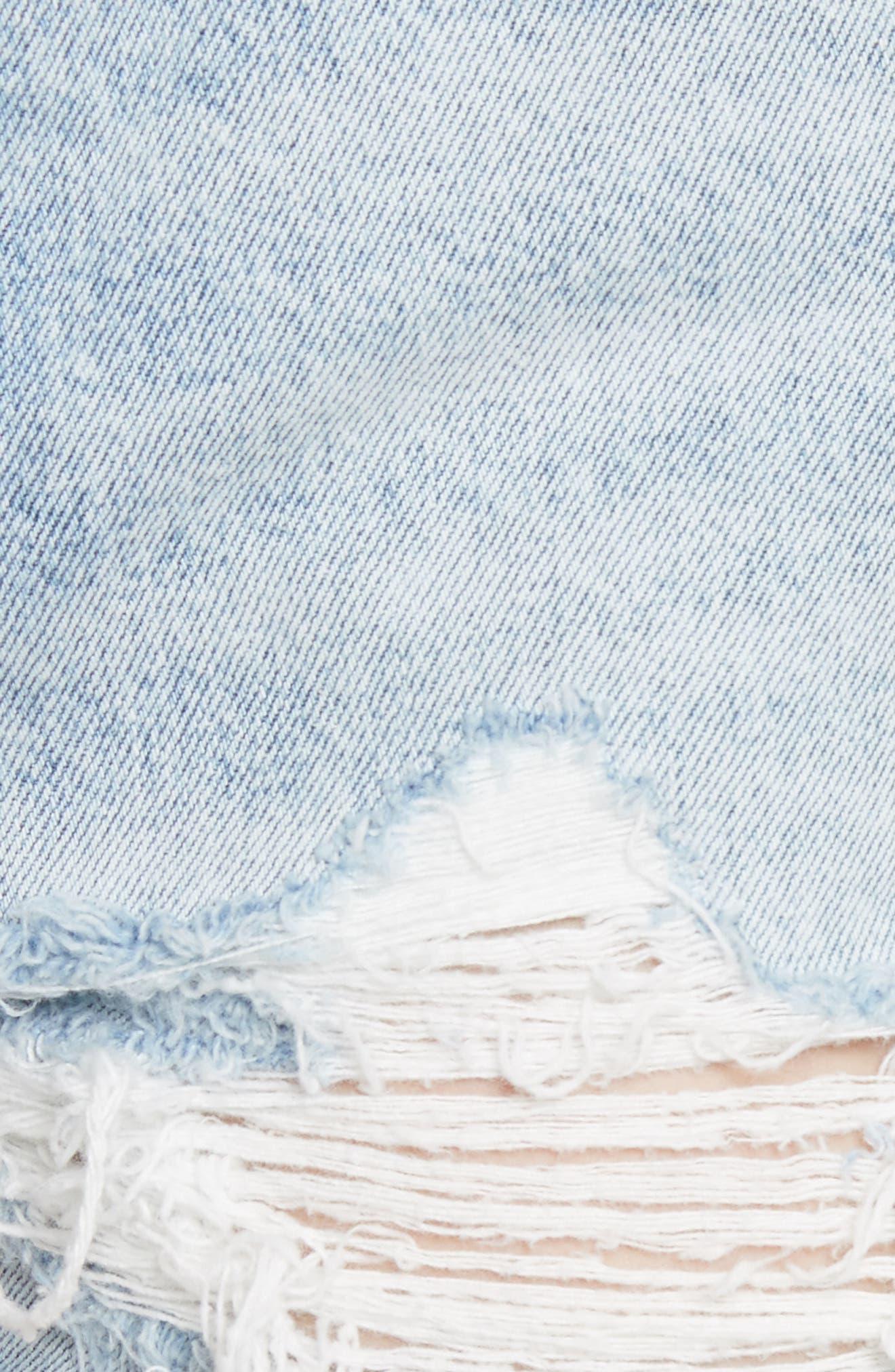 Helena Ripped Denim Shorts,                             Alternate thumbnail 5, color,                             489