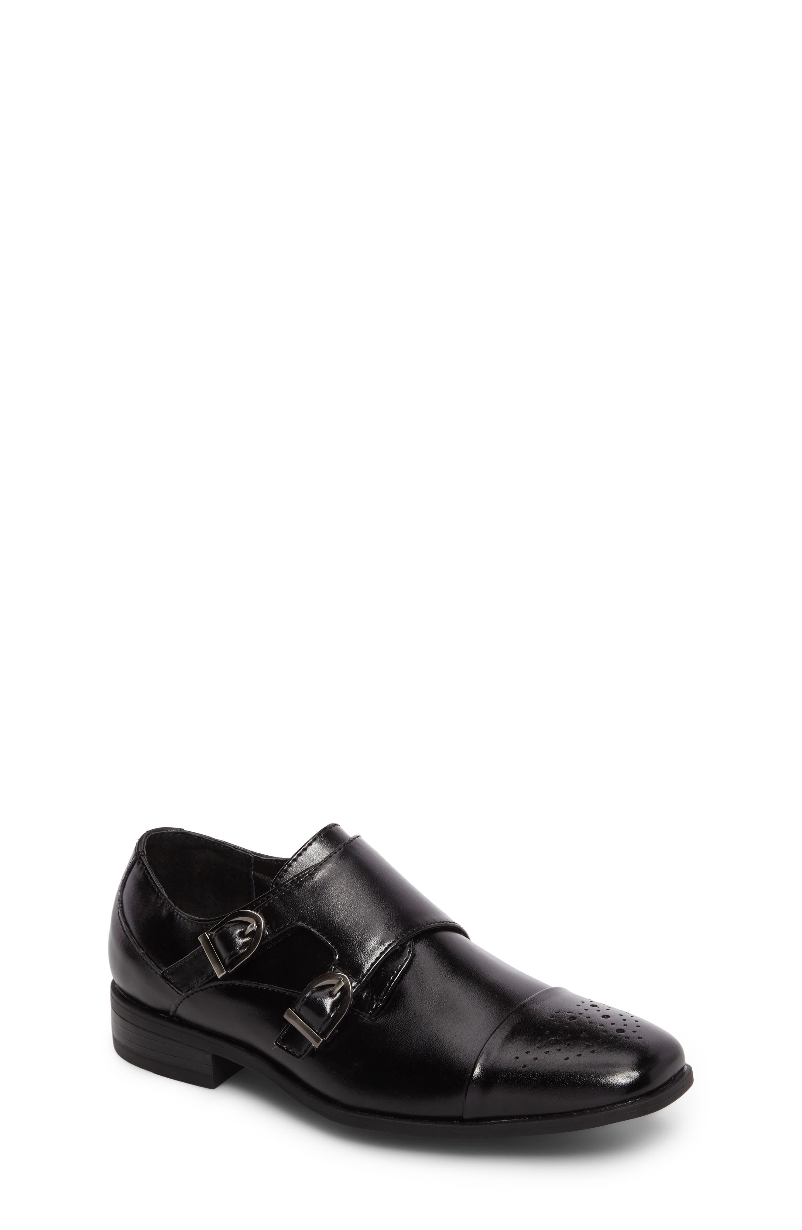 Trevor Cap Toe Monk Shoe,                         Main,                         color, 001