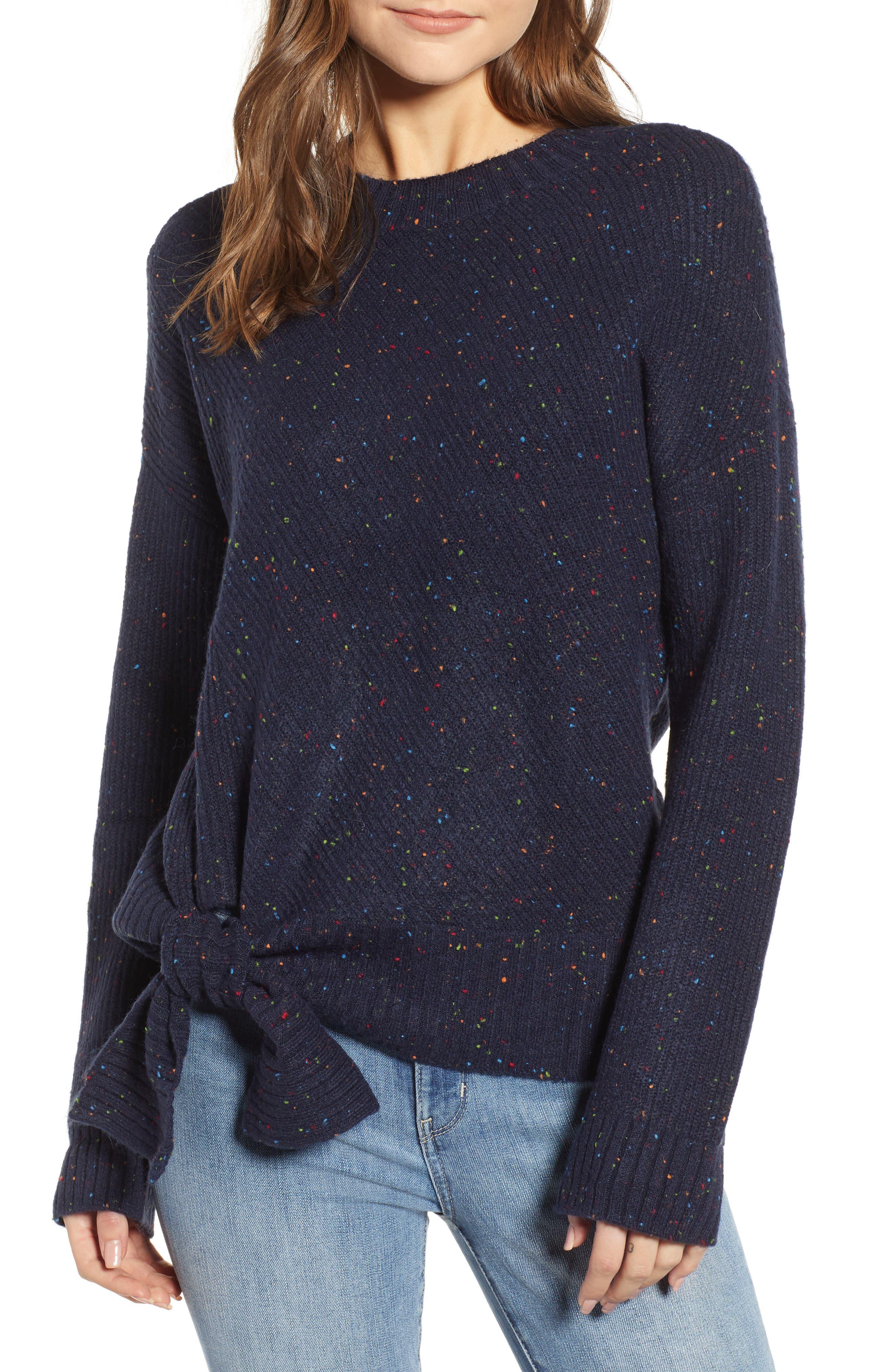Tie Hem Sweater,                         Main,                         color, 410