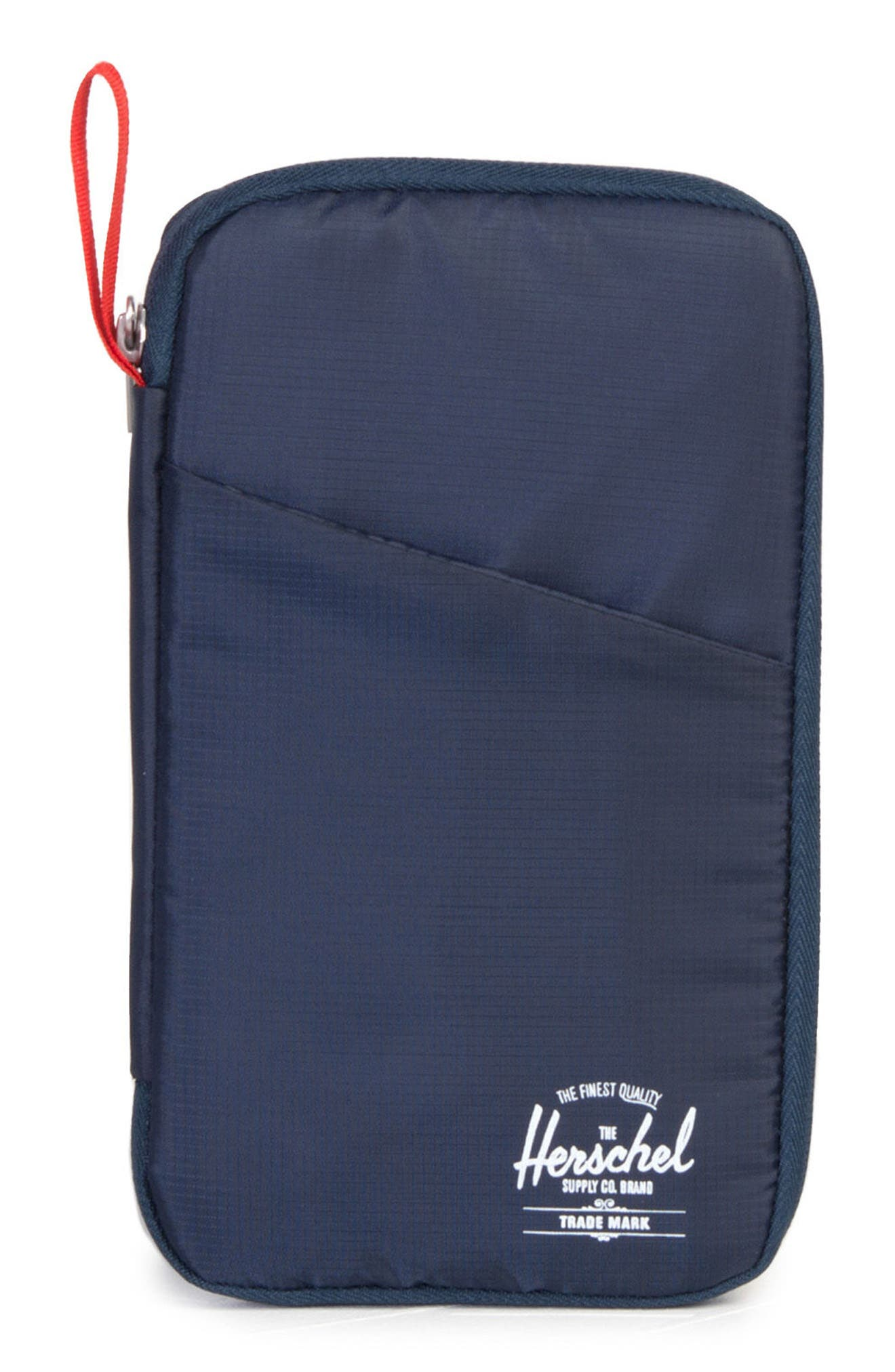 Travel Wallet,                         Main,                         color, NAVY/ RED