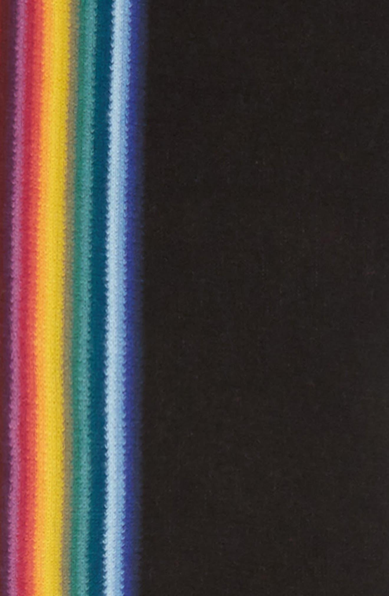 Rainbow Edge Wool Scarf,                             Alternate thumbnail 9, color,