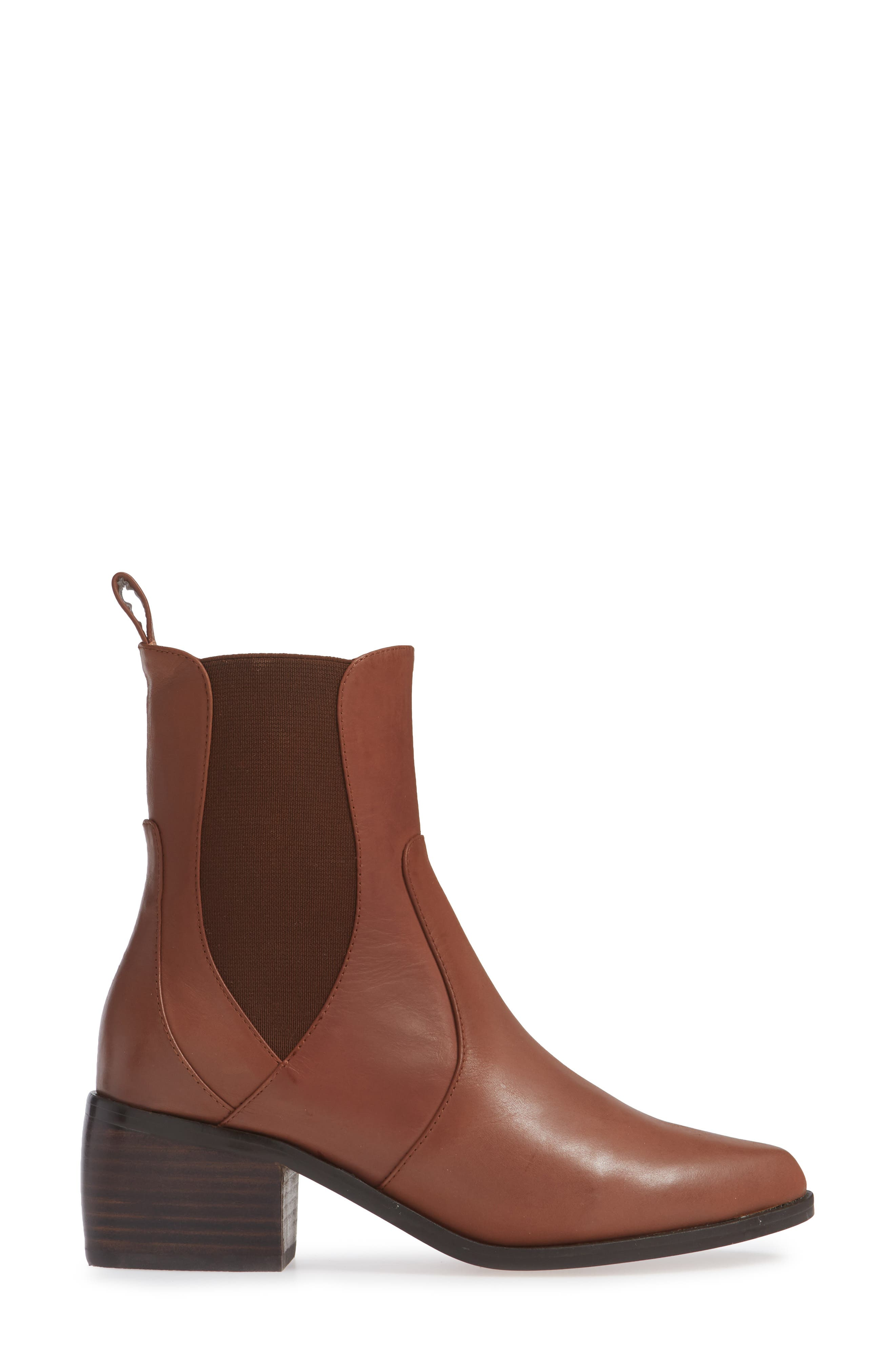 Genesis Bootie,                             Alternate thumbnail 3, color,                             TAN LEATHER