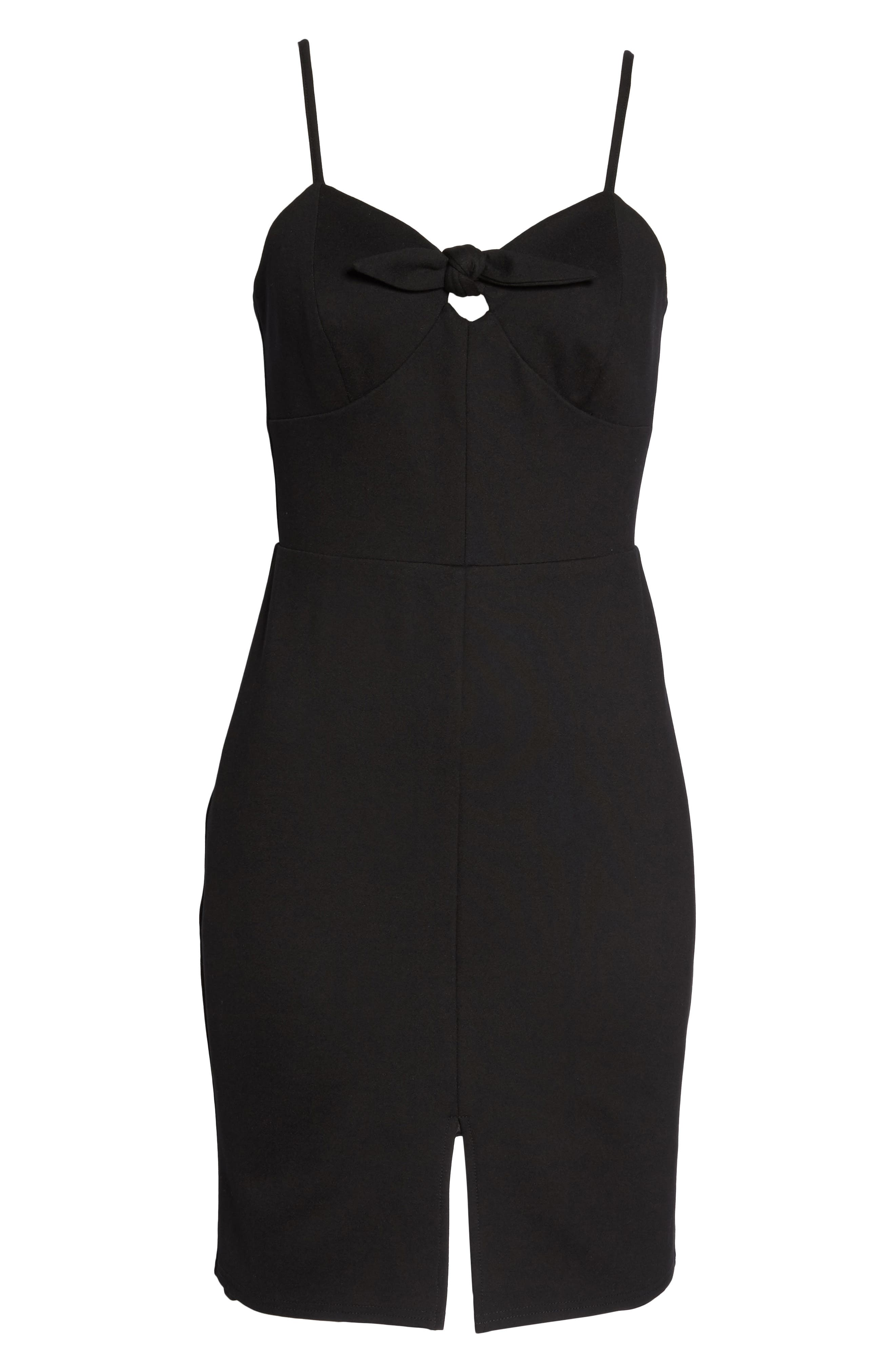 Raynelle Tie Front Sheath Dress,                             Alternate thumbnail 6, color,