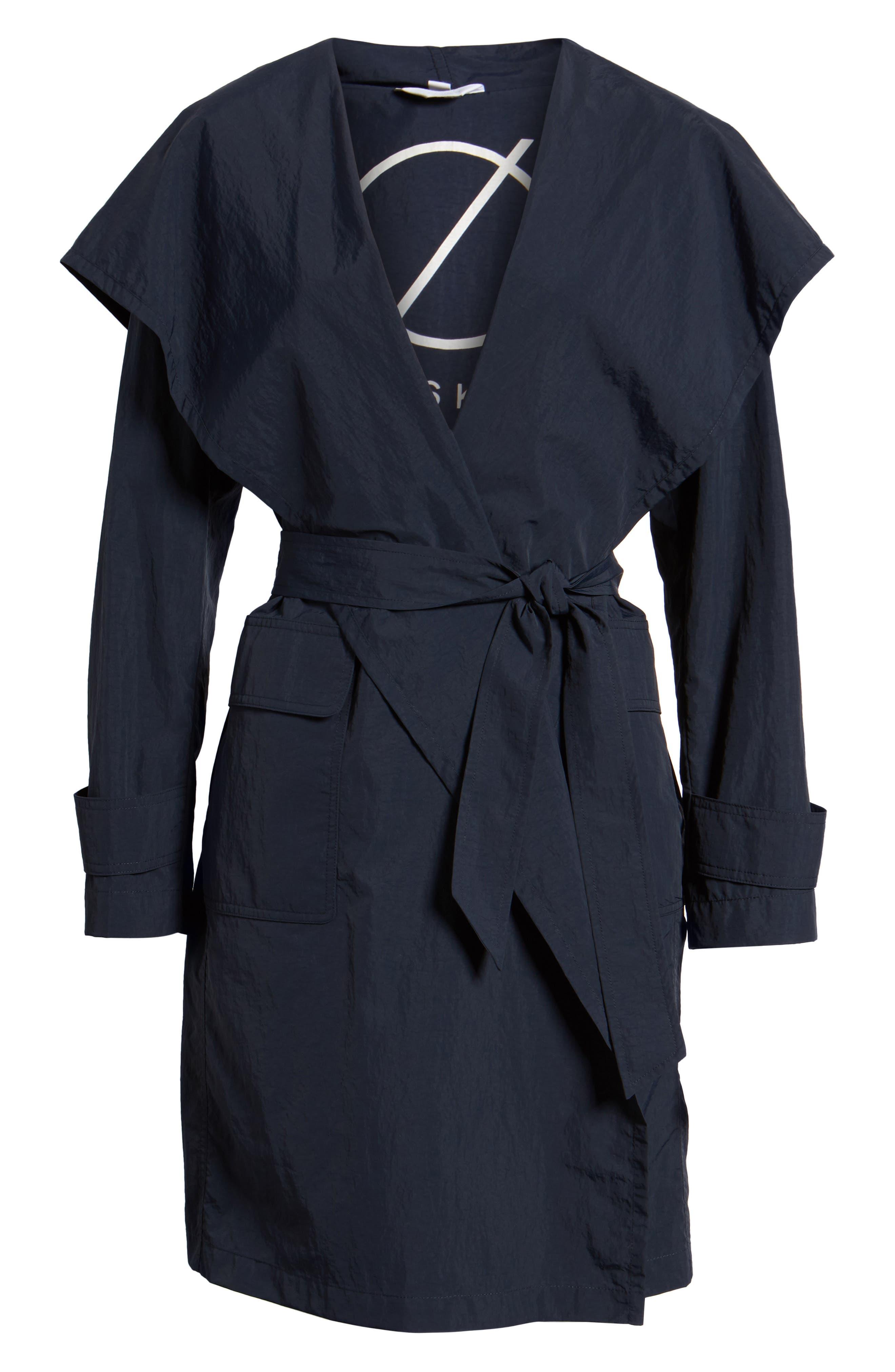 Flo Packable Hooded Raincoat,                             Alternate thumbnail 6, color,                             250