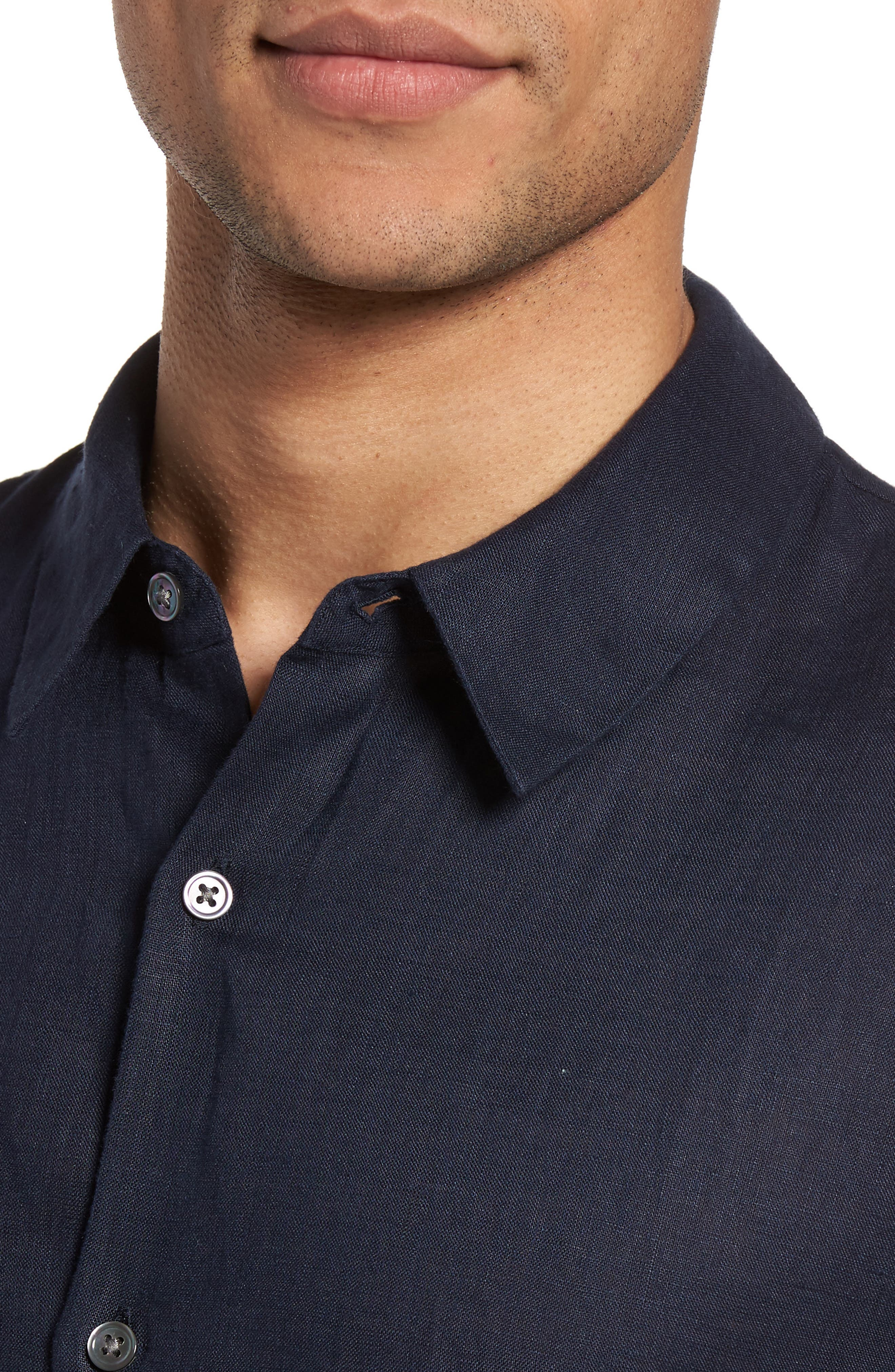 Slim Fit Linen Sport Shirt,                             Alternate thumbnail 12, color,