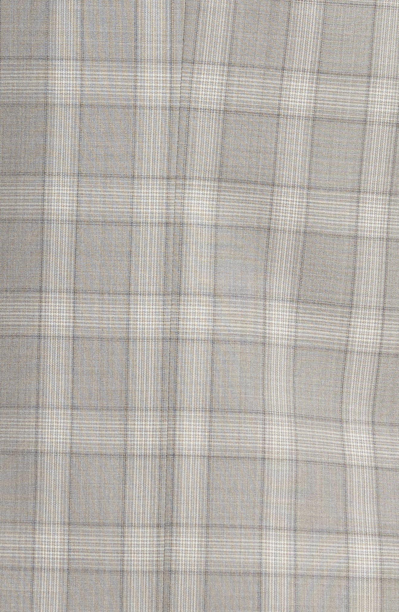 Jay Trim Fit Plaid Wool Suit,                             Alternate thumbnail 7, color,                             050