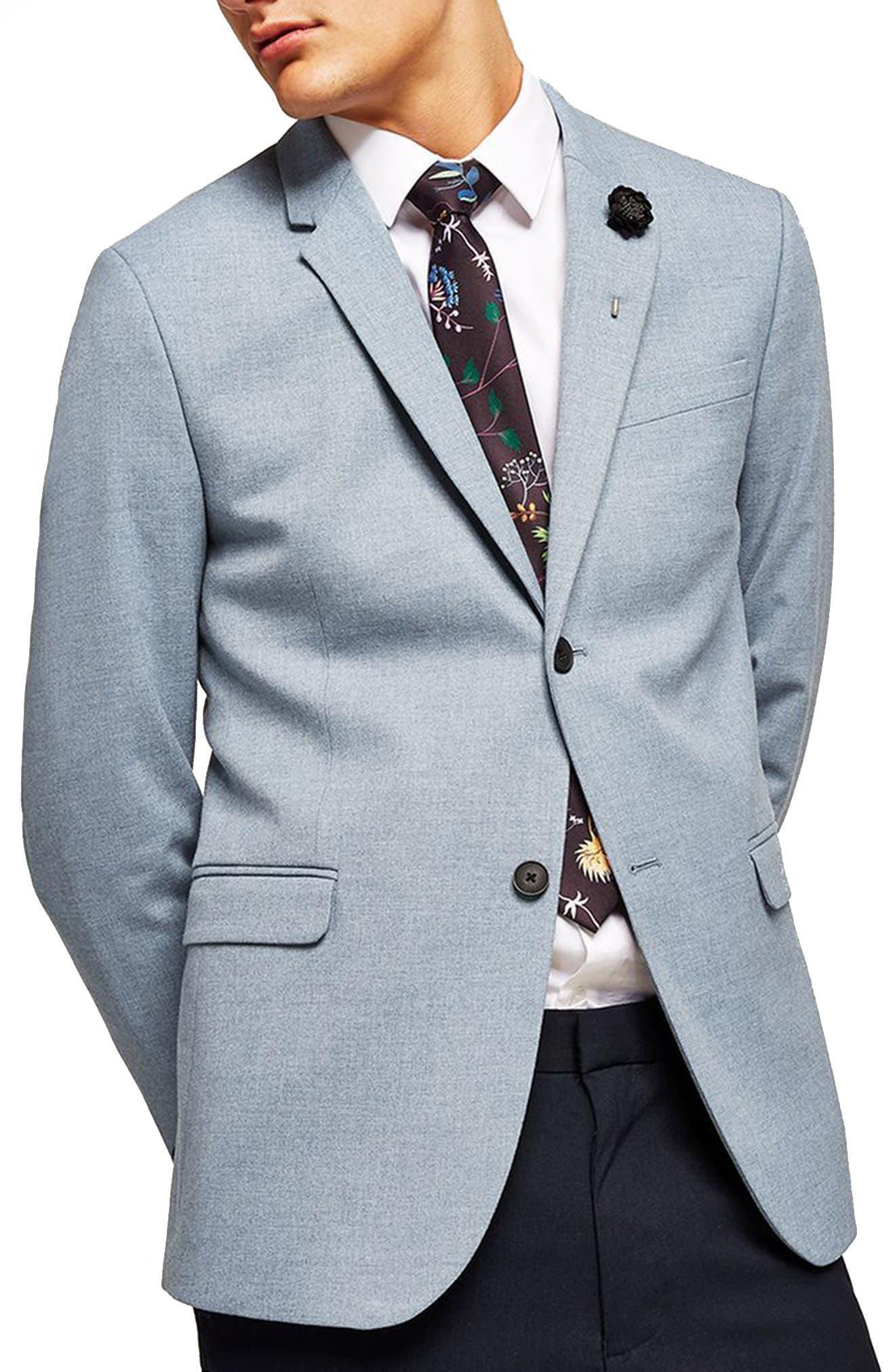 Skinny Fit Blazer, Main, color, 400