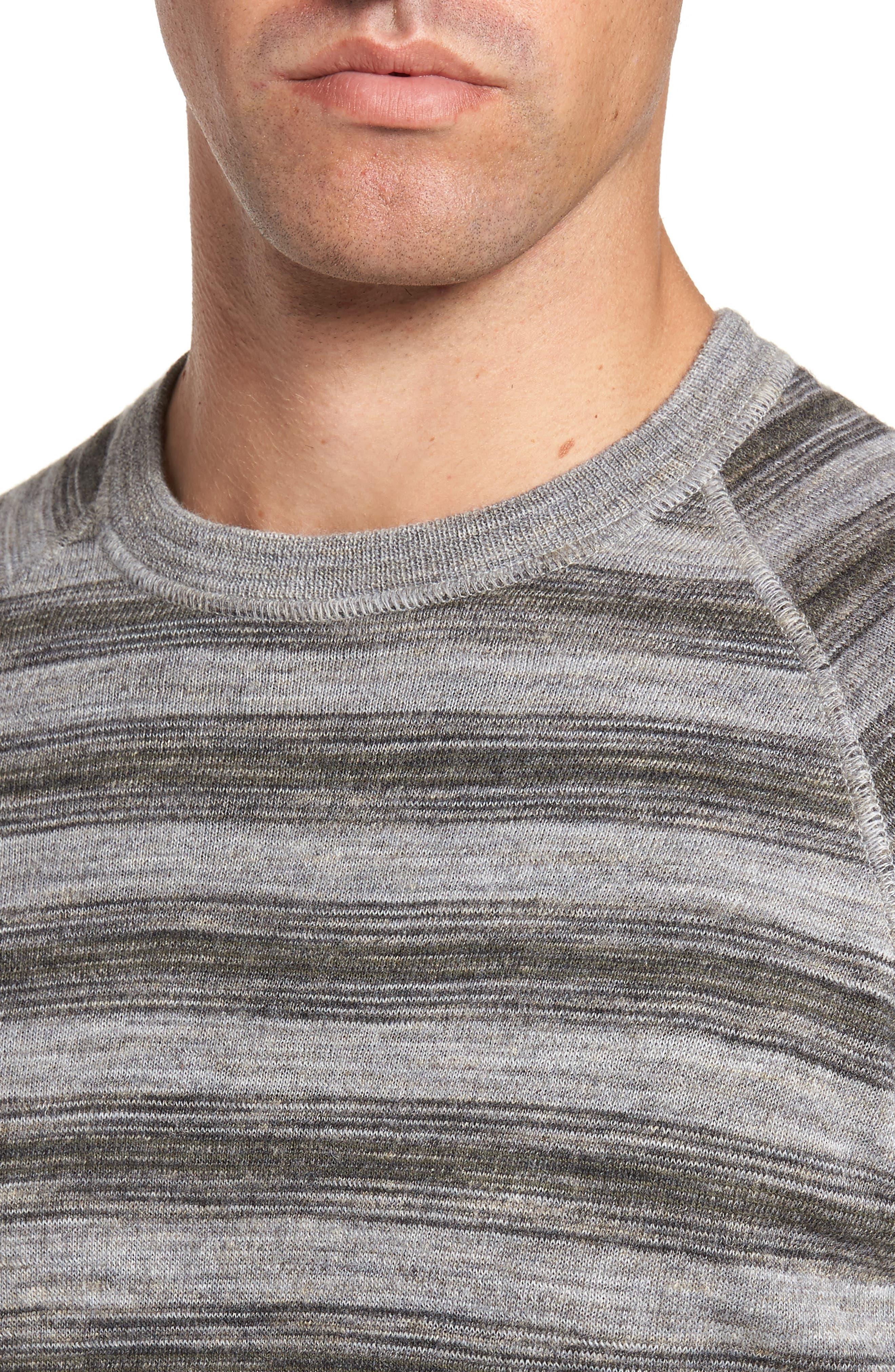 Reverse Stripe Sweater,                             Alternate thumbnail 4, color,                             036