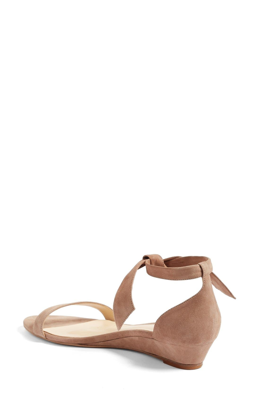 Atena Tie Strap Wedge Sandal,                             Alternate thumbnail 4, color,